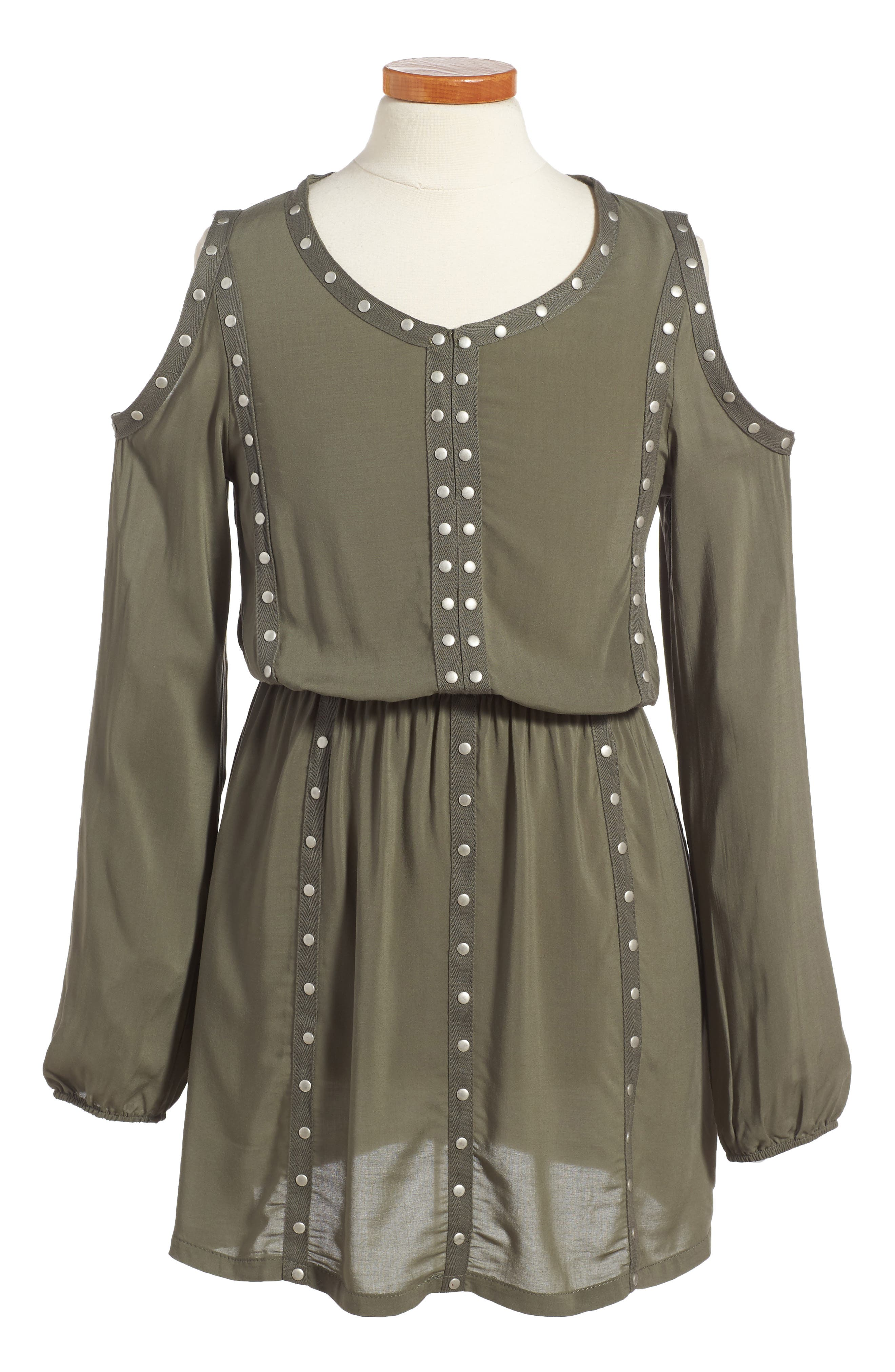 Grommet Cold Shoulder Dress,                             Main thumbnail 2, color,