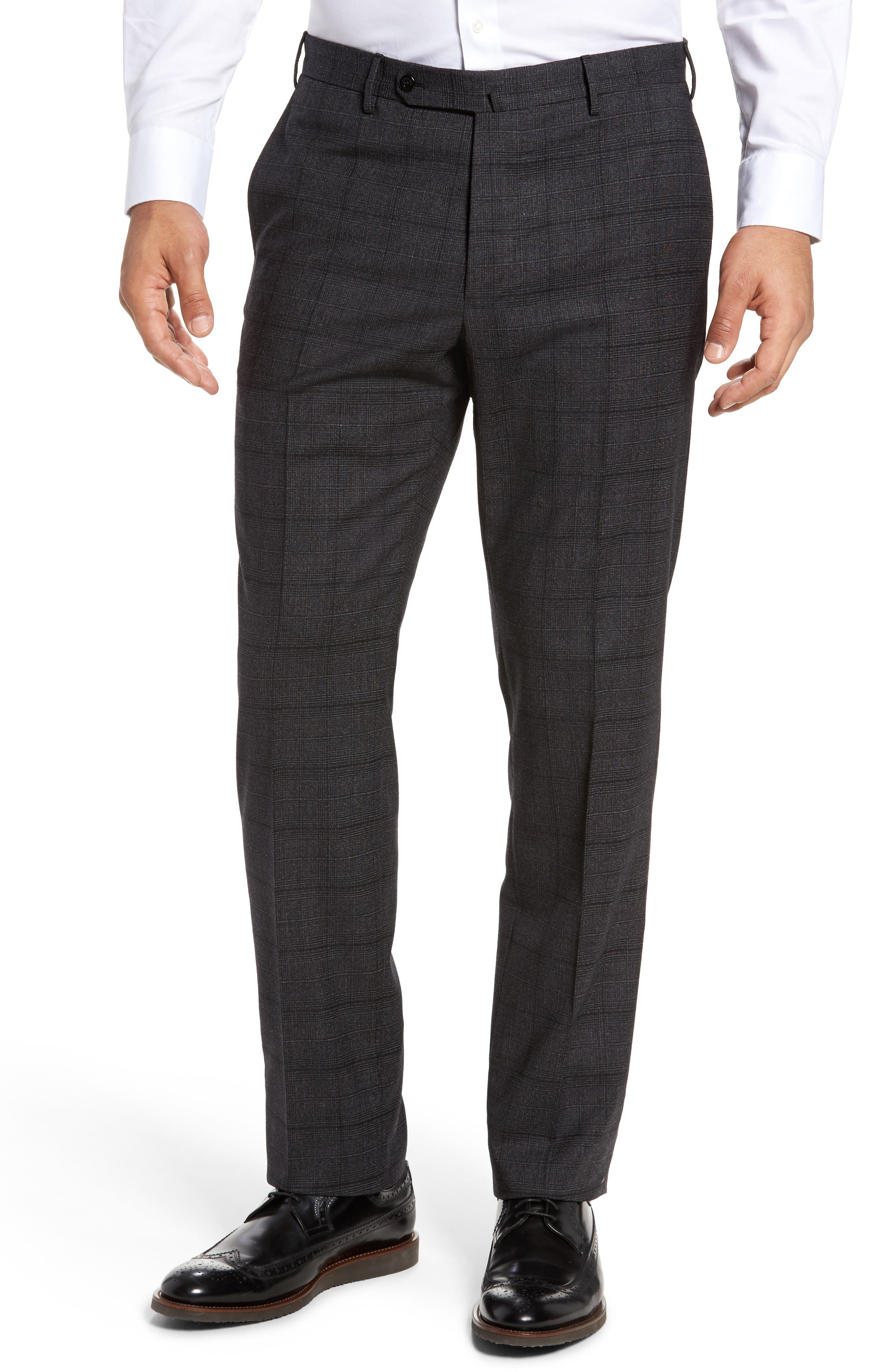 Benson Flat Front Trousers,                             Main thumbnail 1, color,                             015