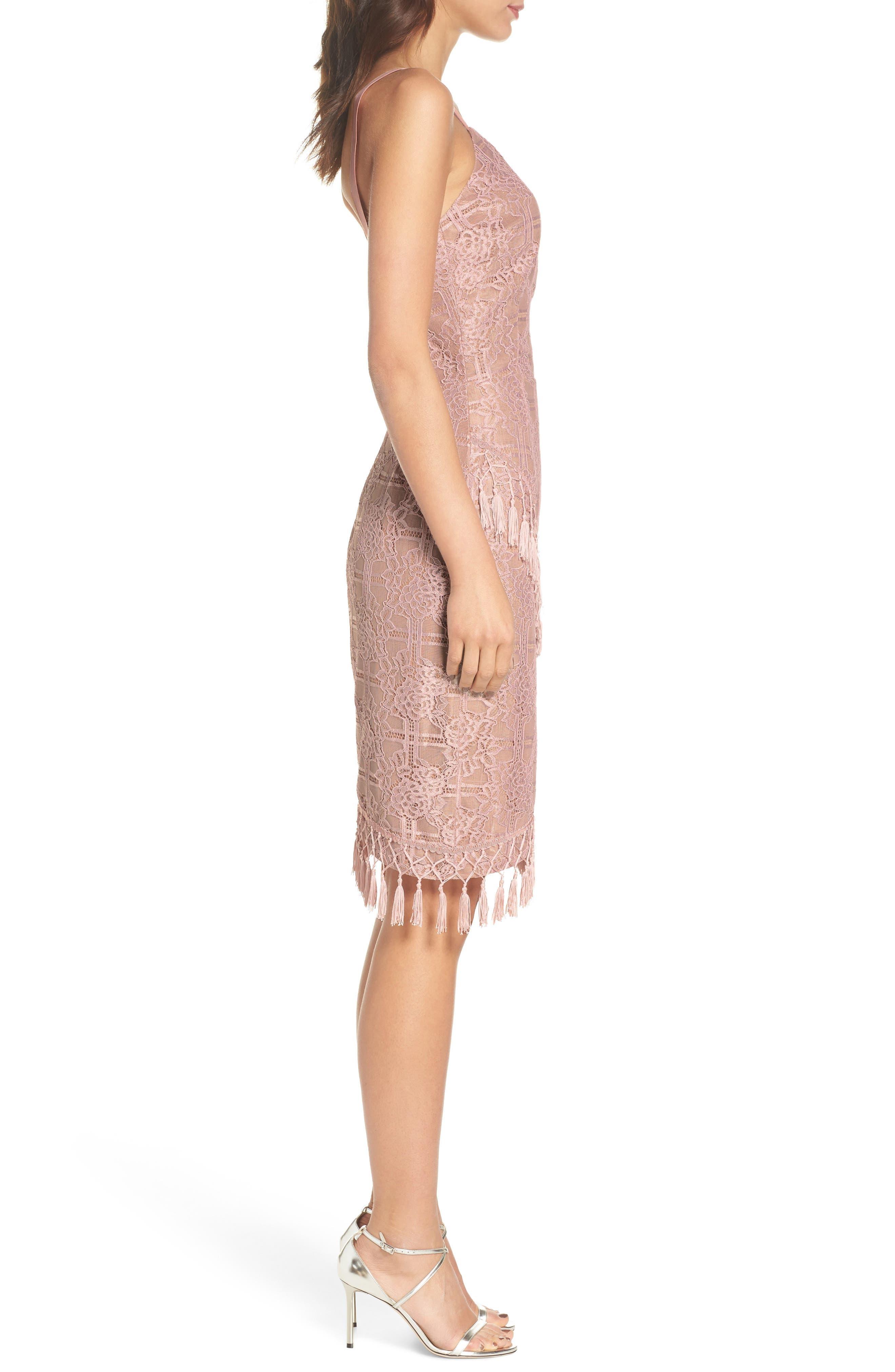Natasha Asymmetrical Lace Dress,                             Alternate thumbnail 3, color,                             250