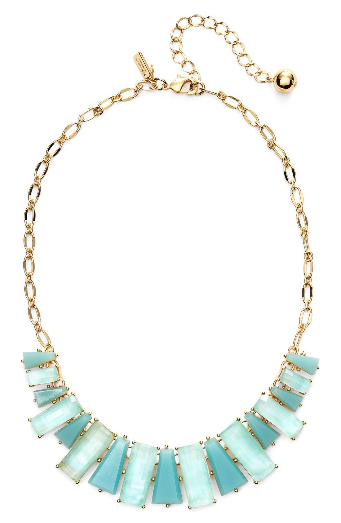 KATE SPADE NEW YORK 'beach gem' frontal necklace, Main, color, 405