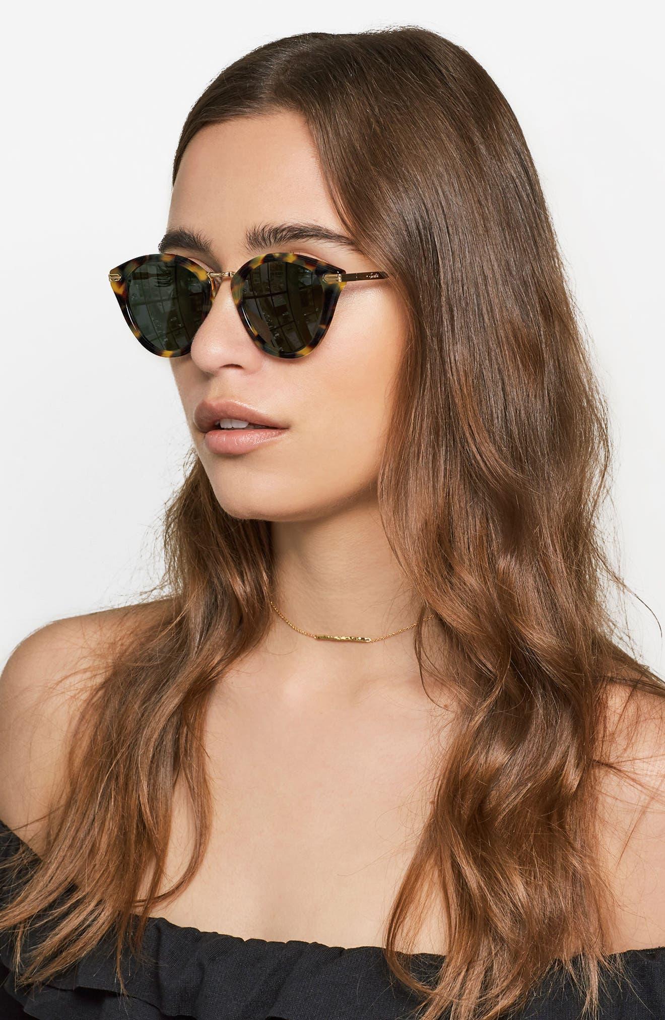 Quinn 48mm Cat Eye Sunglasses,                             Alternate thumbnail 15, color,