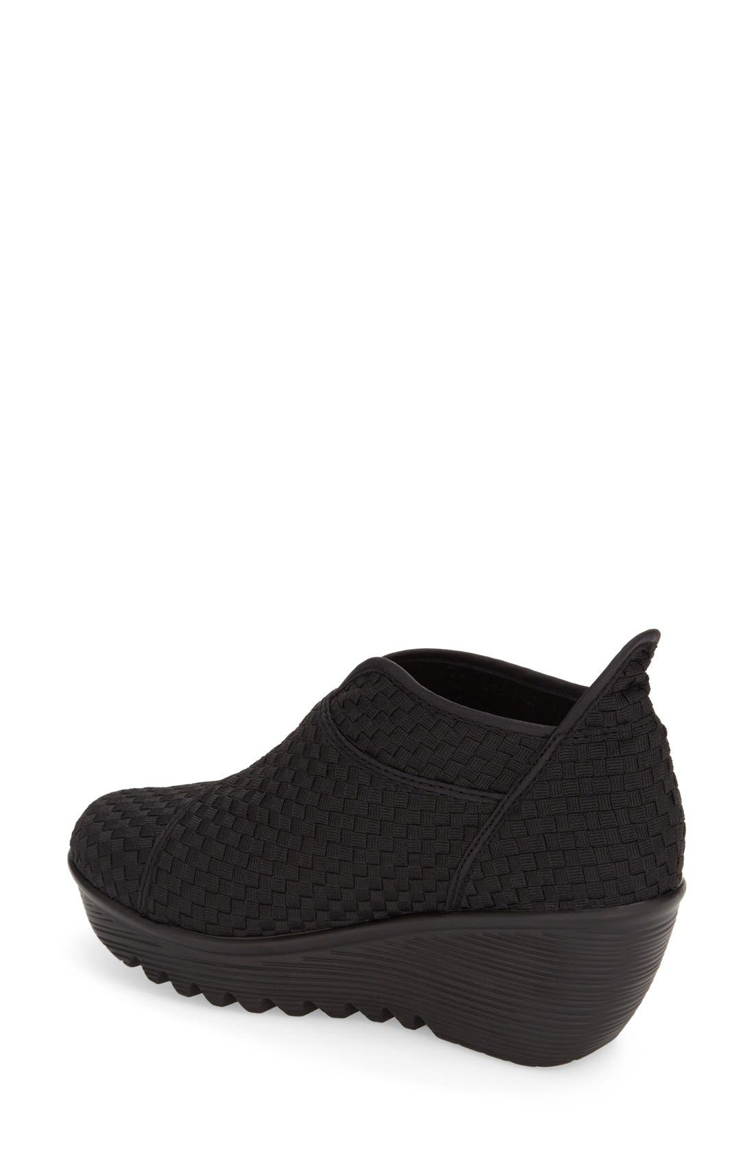 'ZigZag' Wedge Bootie,                             Alternate thumbnail 2, color,                             001