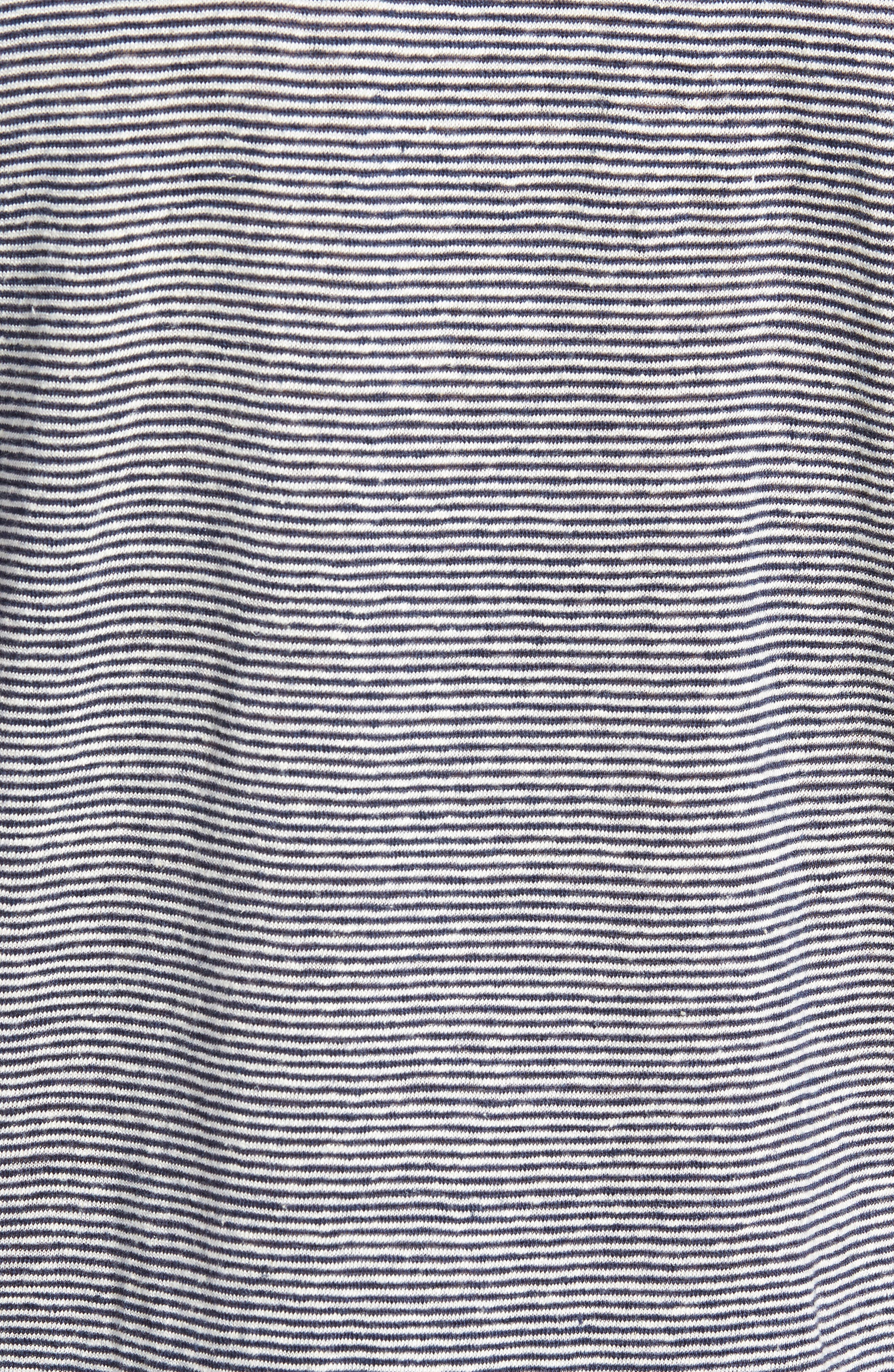 Feeder Stripe Linen Blend Jersey T-Shirt,                             Alternate thumbnail 5, color,                             410