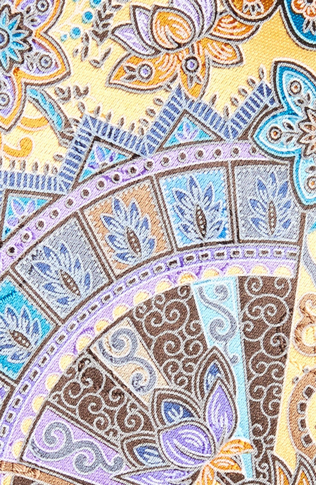 Quindici Paisley Silk Tie,                             Alternate thumbnail 2, color,                             728