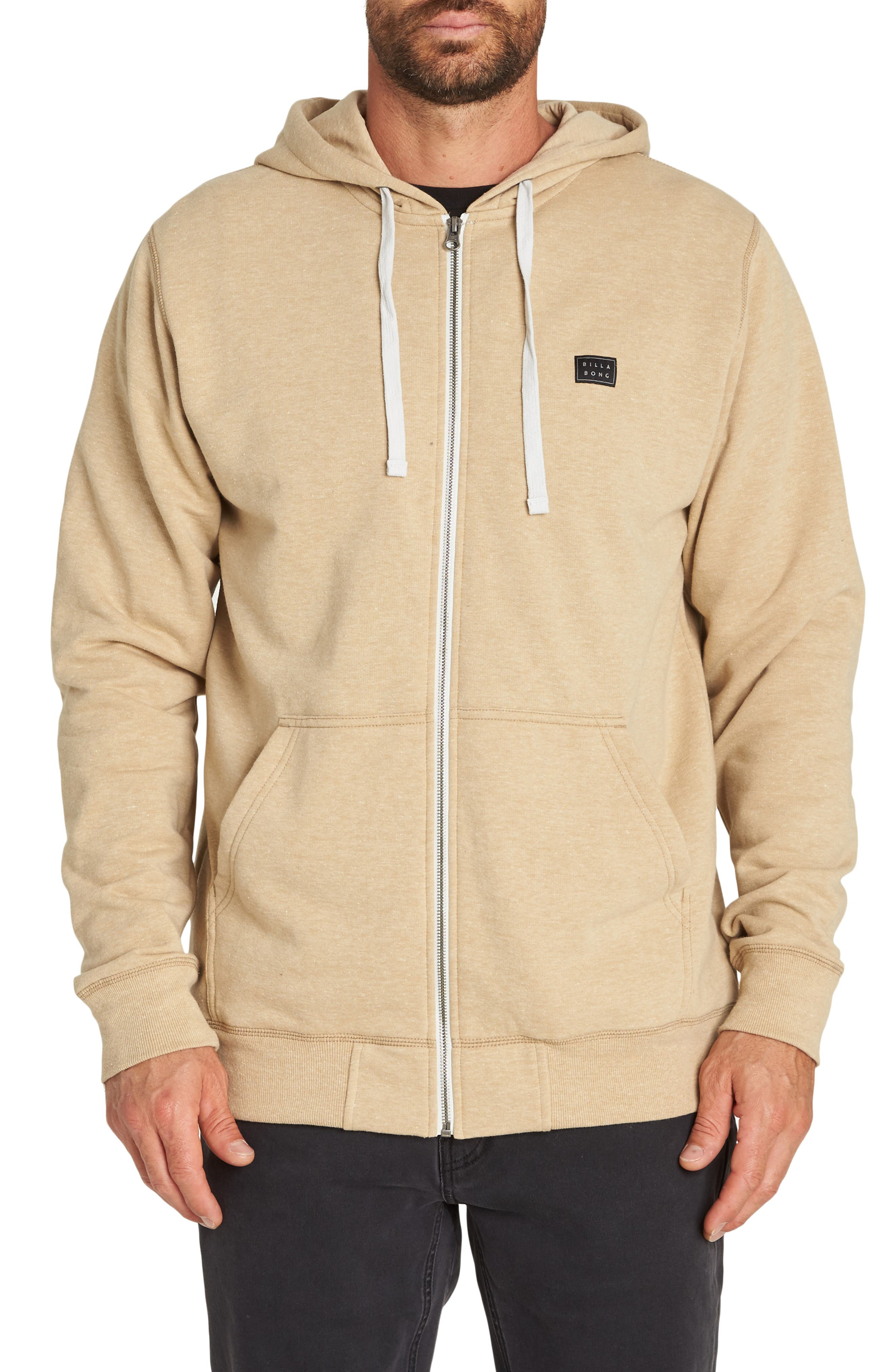 All Day Zip Hoodie,                         Main,                         color, STRAW