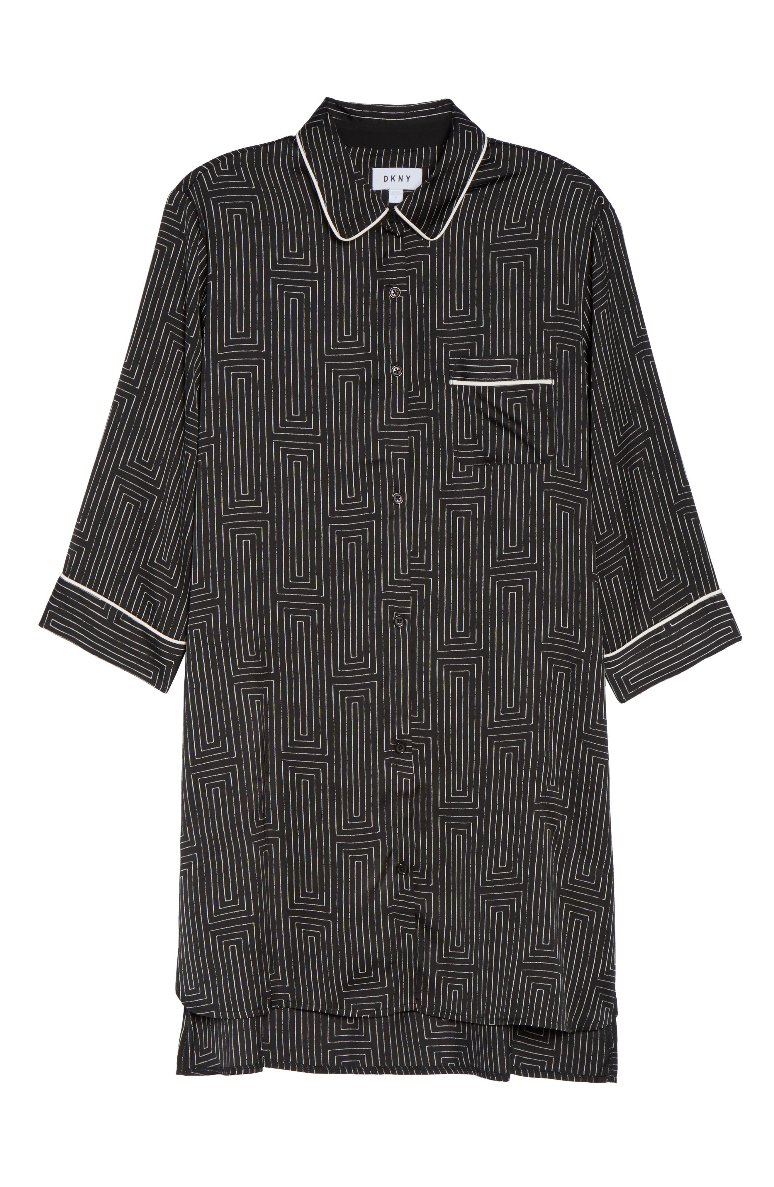 Washed Satin Sleep Shirt,                             Alternate thumbnail 6, color,                             018