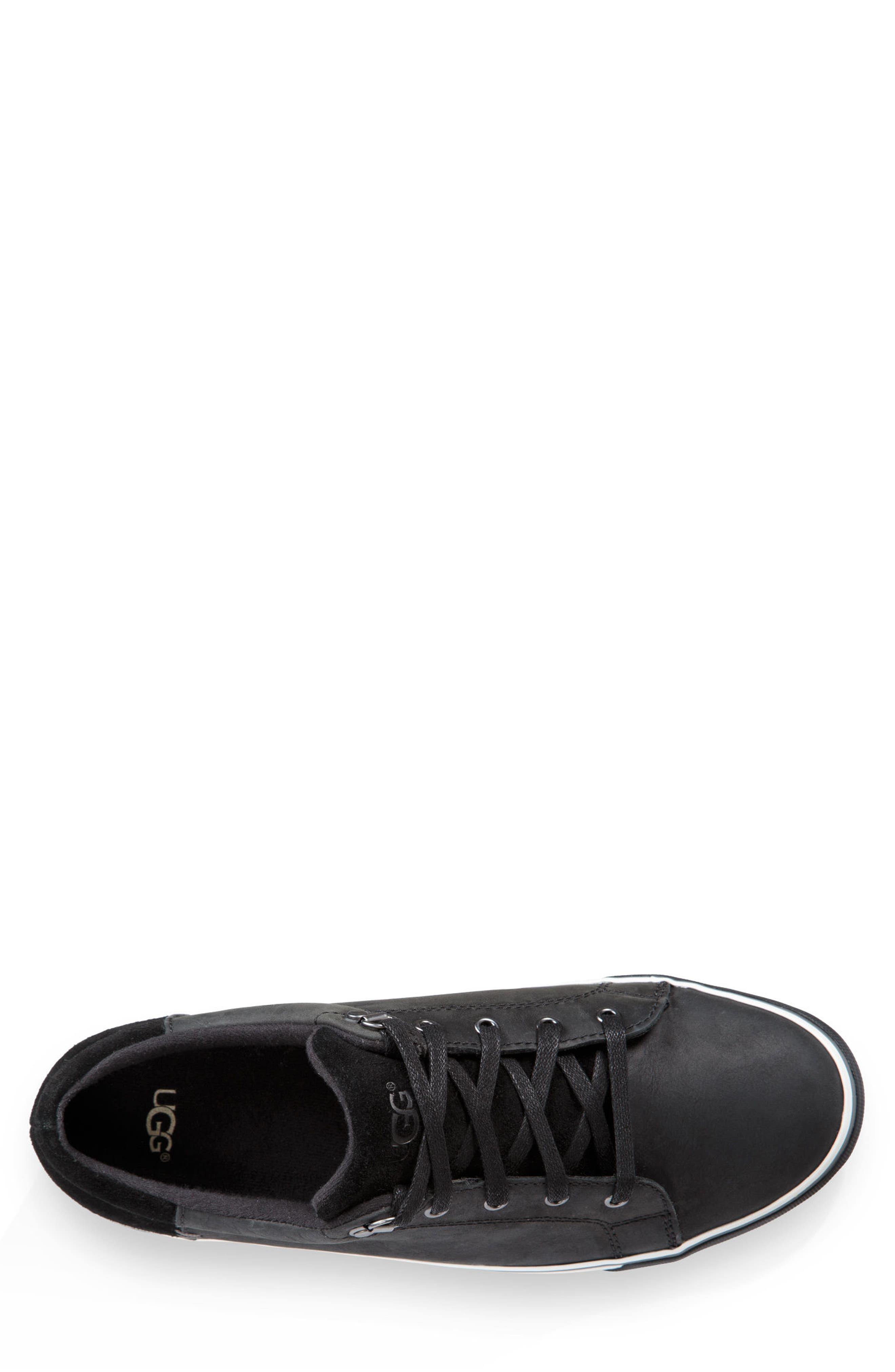 Brock II Waterproof Sneaker,                             Alternate thumbnail 4, color,                             BLACK