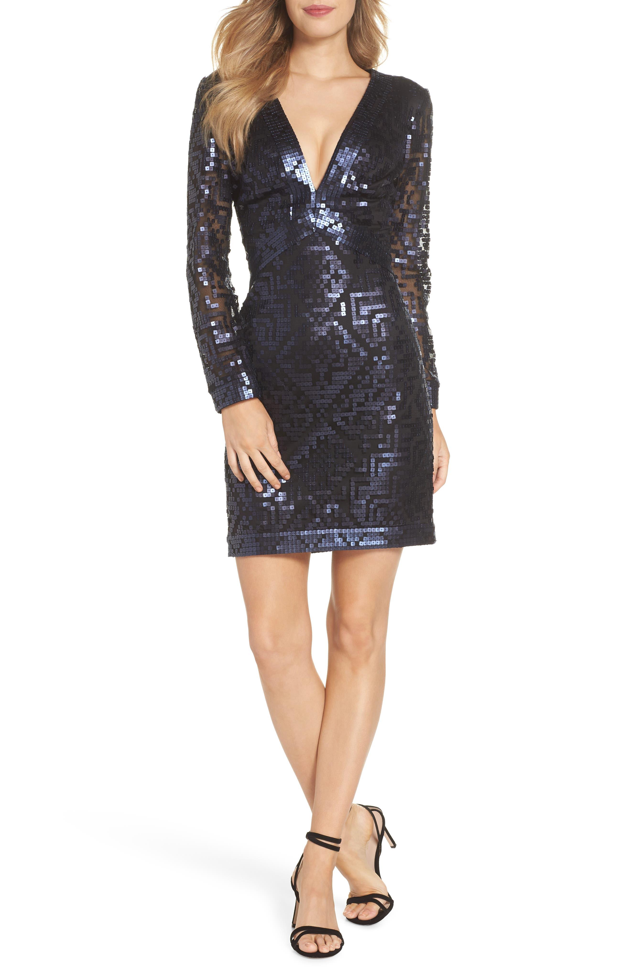 Sequin Cocktail Dress,                             Main thumbnail 1, color,                             412