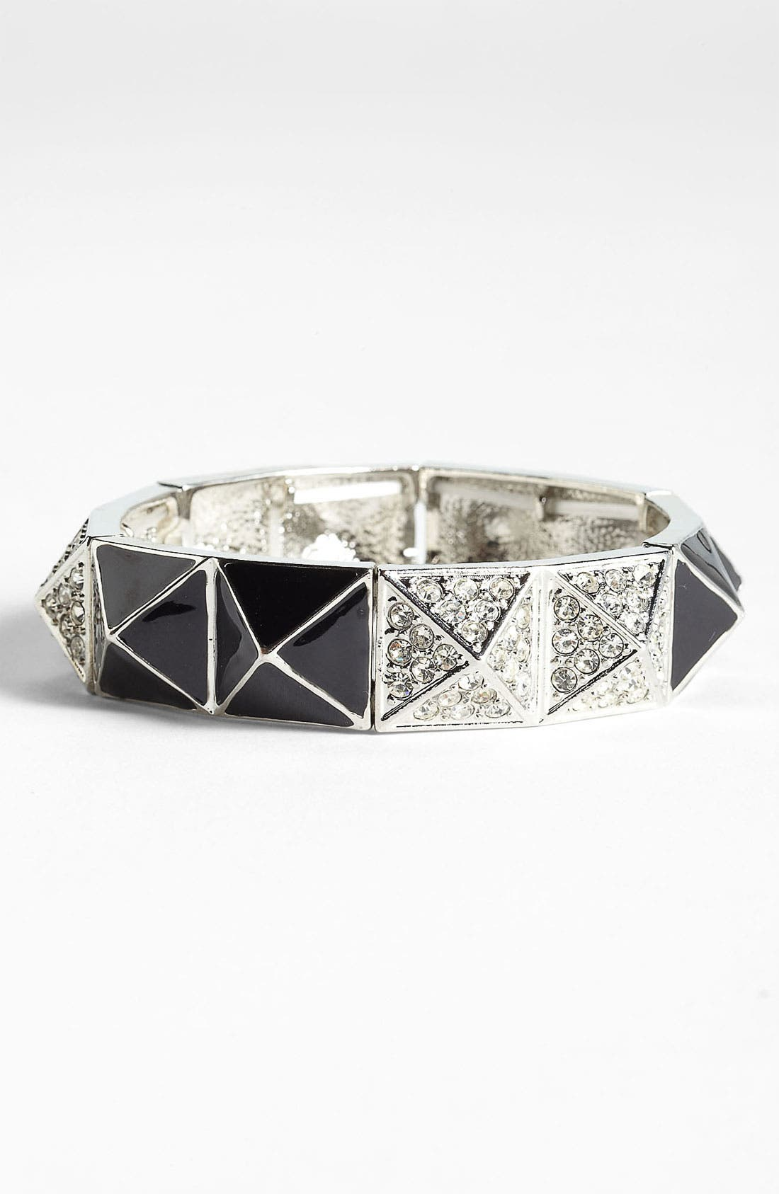 Pyramid Stretch Bracelet,                         Main,                         color, 001