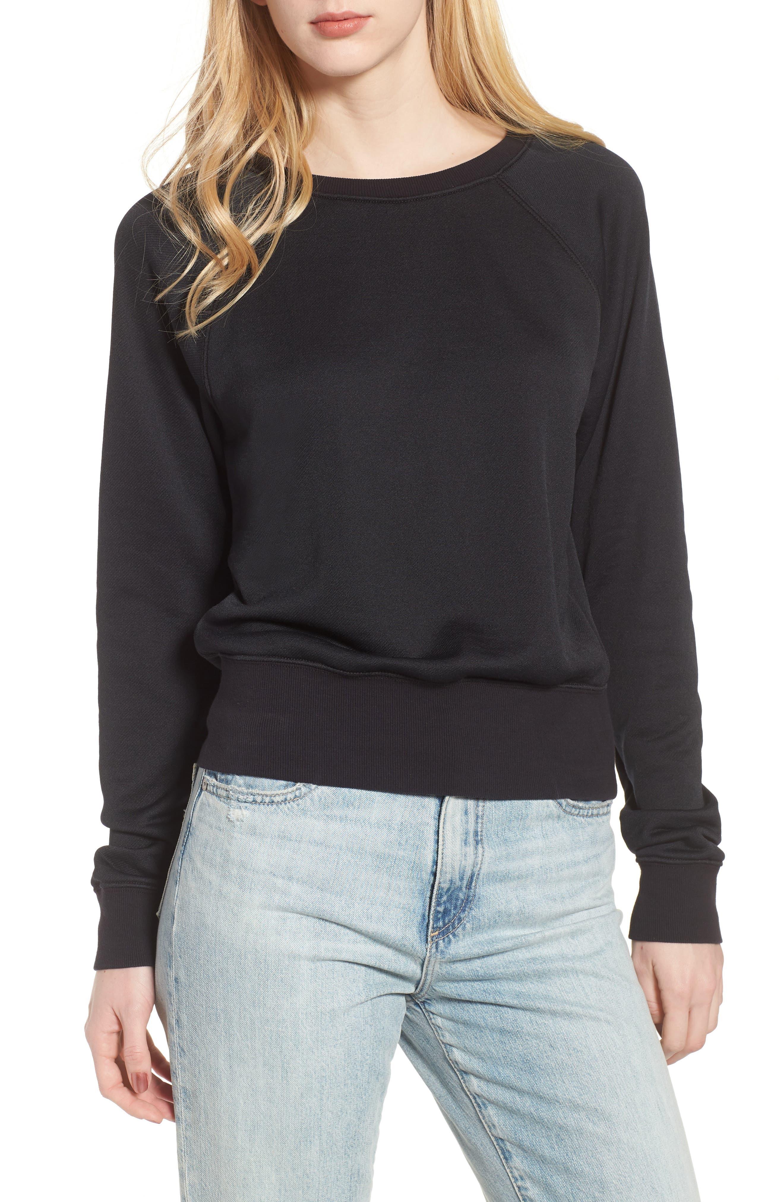 Shrunken Fleece Sweatshirt,                         Main,                         color, 027