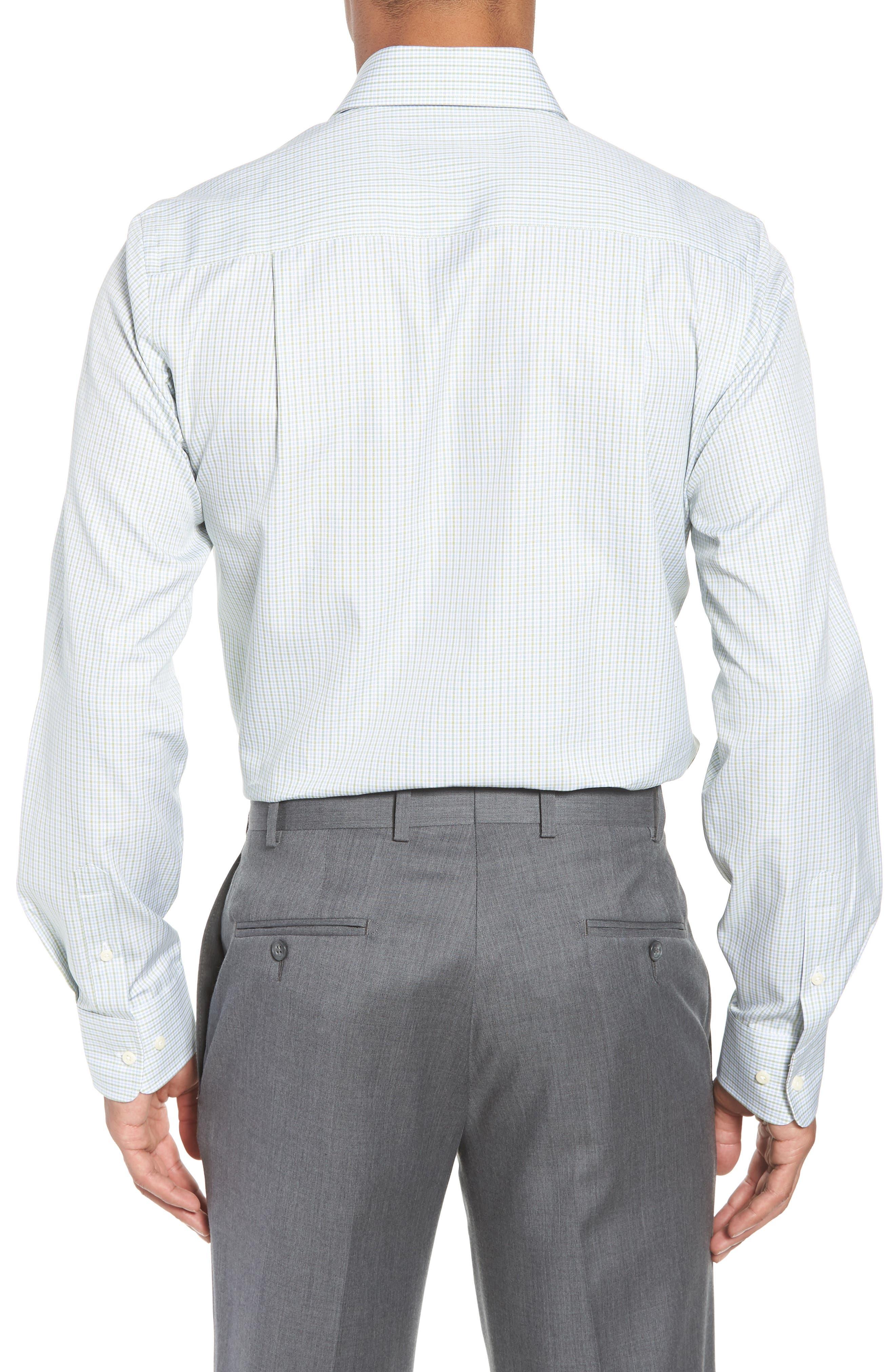 Trim Fit Check Dress Shirt,                             Alternate thumbnail 3, color,                             310