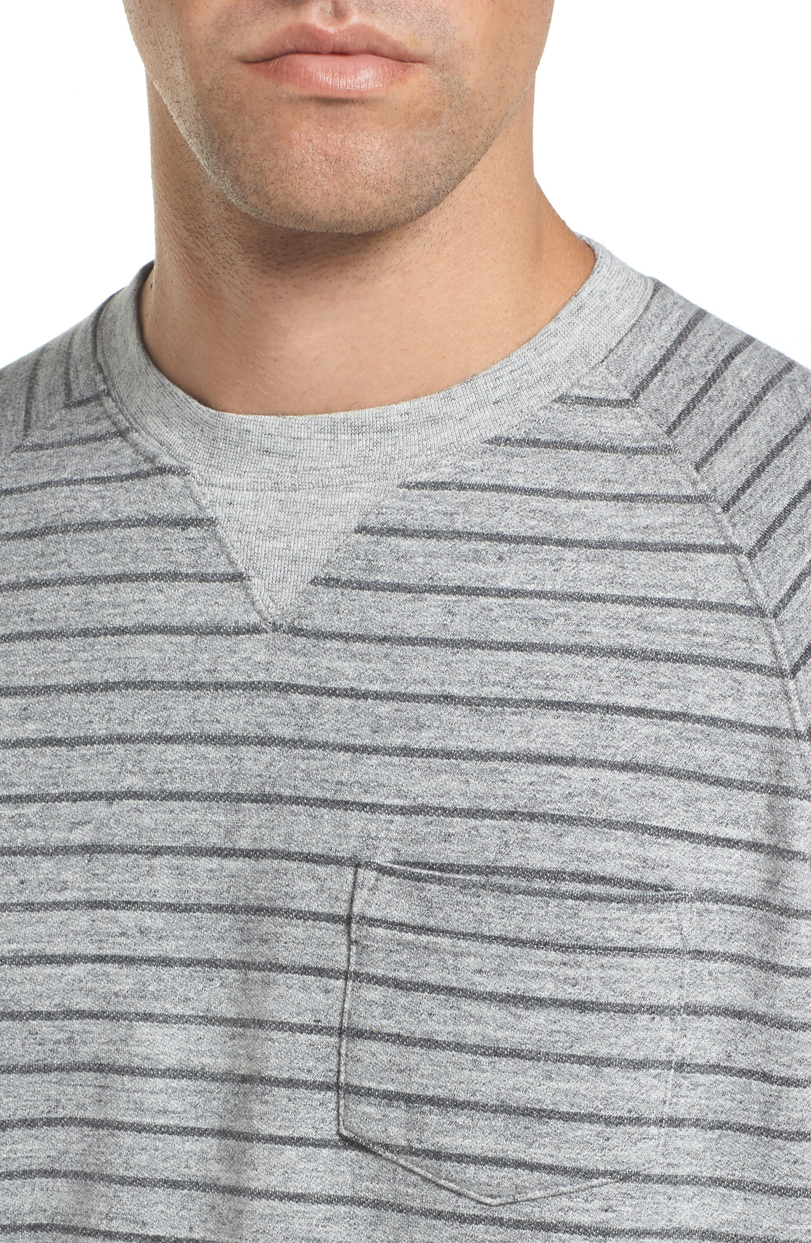 Palmer Modern Fit Athletic Stripe Sweatshirt,                             Alternate thumbnail 4, color,                             066