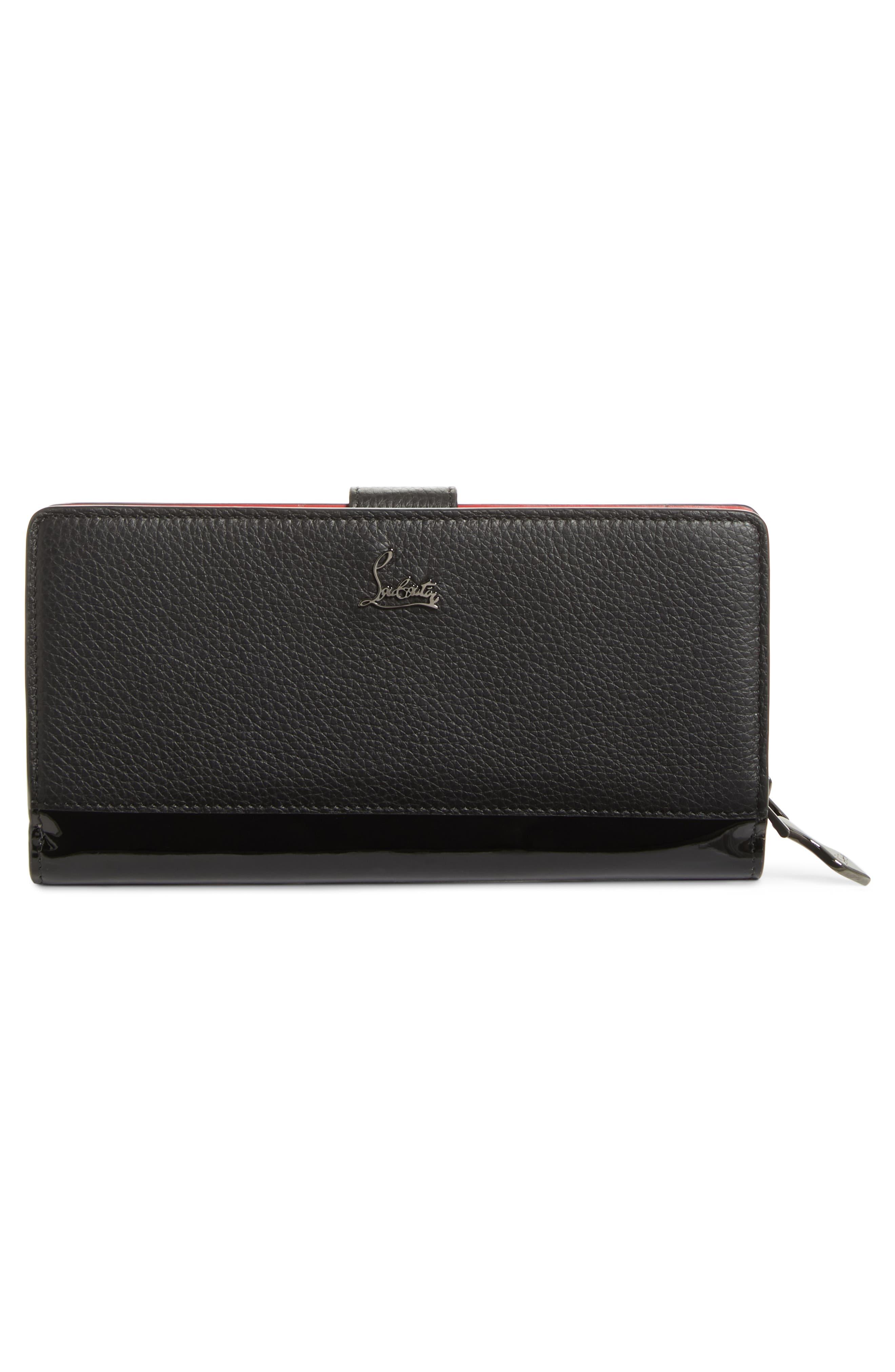Paloma Calfskin Leather Wallet,                             Alternate thumbnail 3, color,                             007