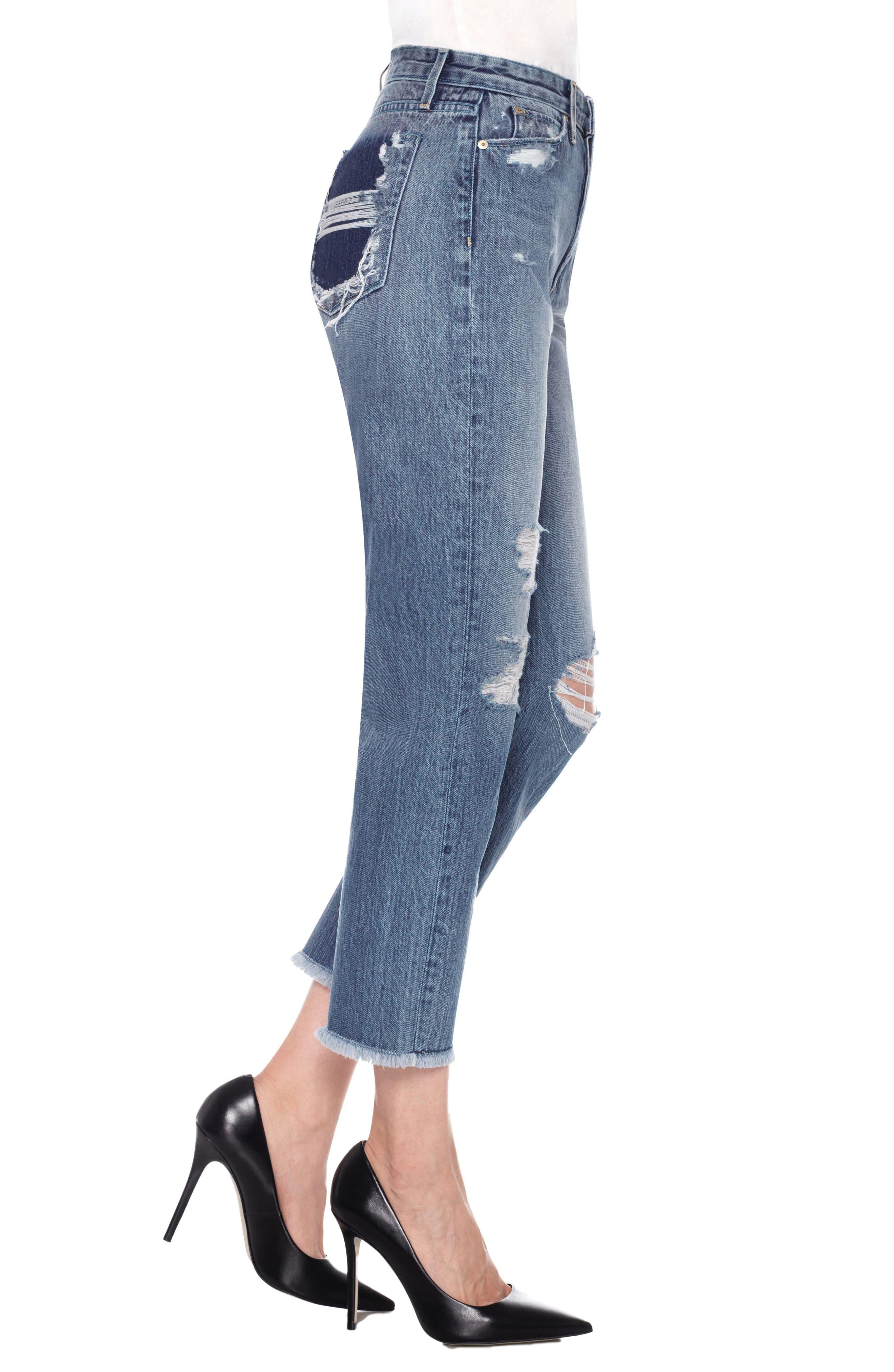 Smith High Waist Crop Boyfriend Jeans,                             Alternate thumbnail 3, color,                             450