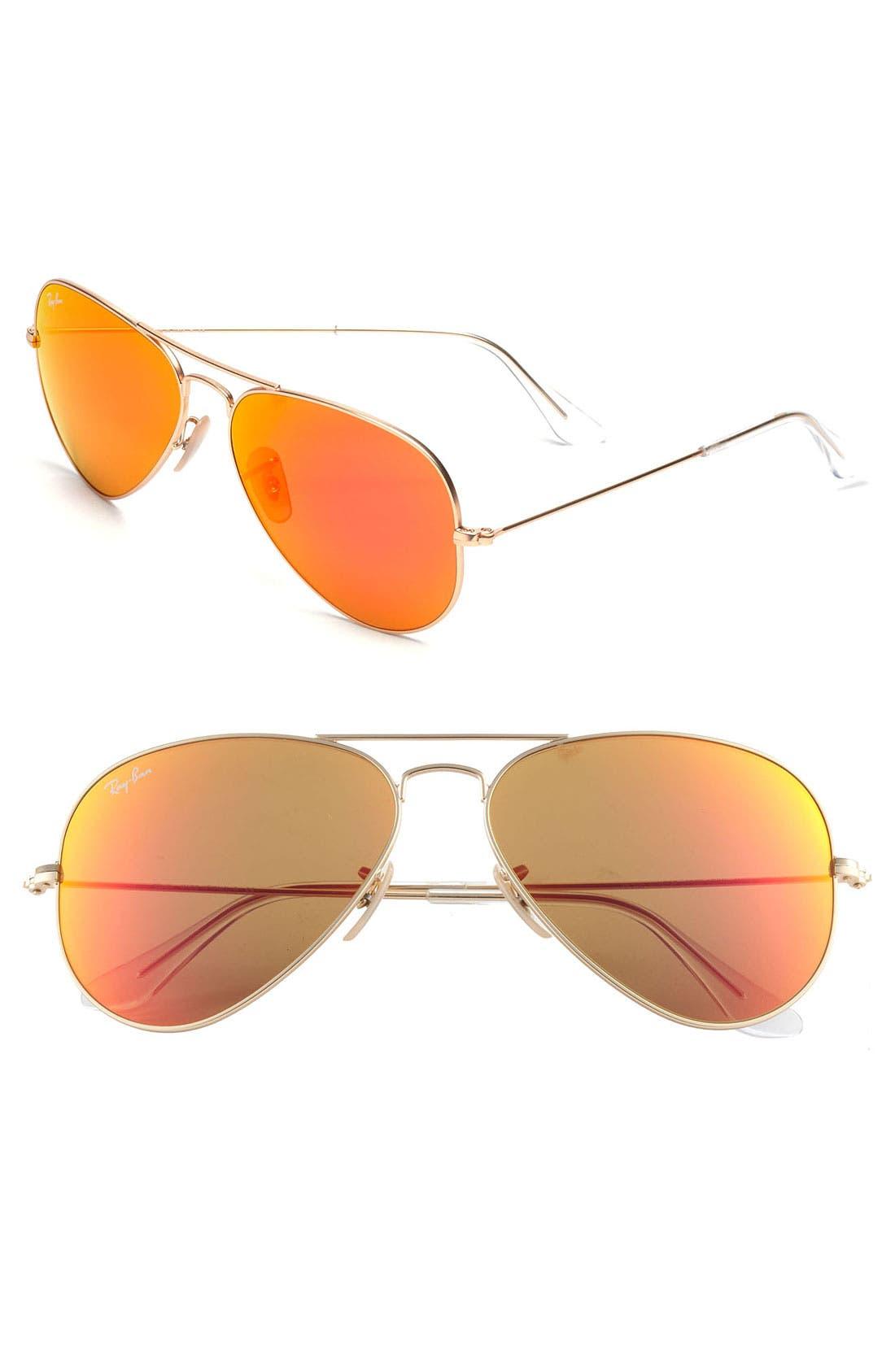 Ray-Ban Standard Original 5m Aviator Sunglasses - Gold/ Brown