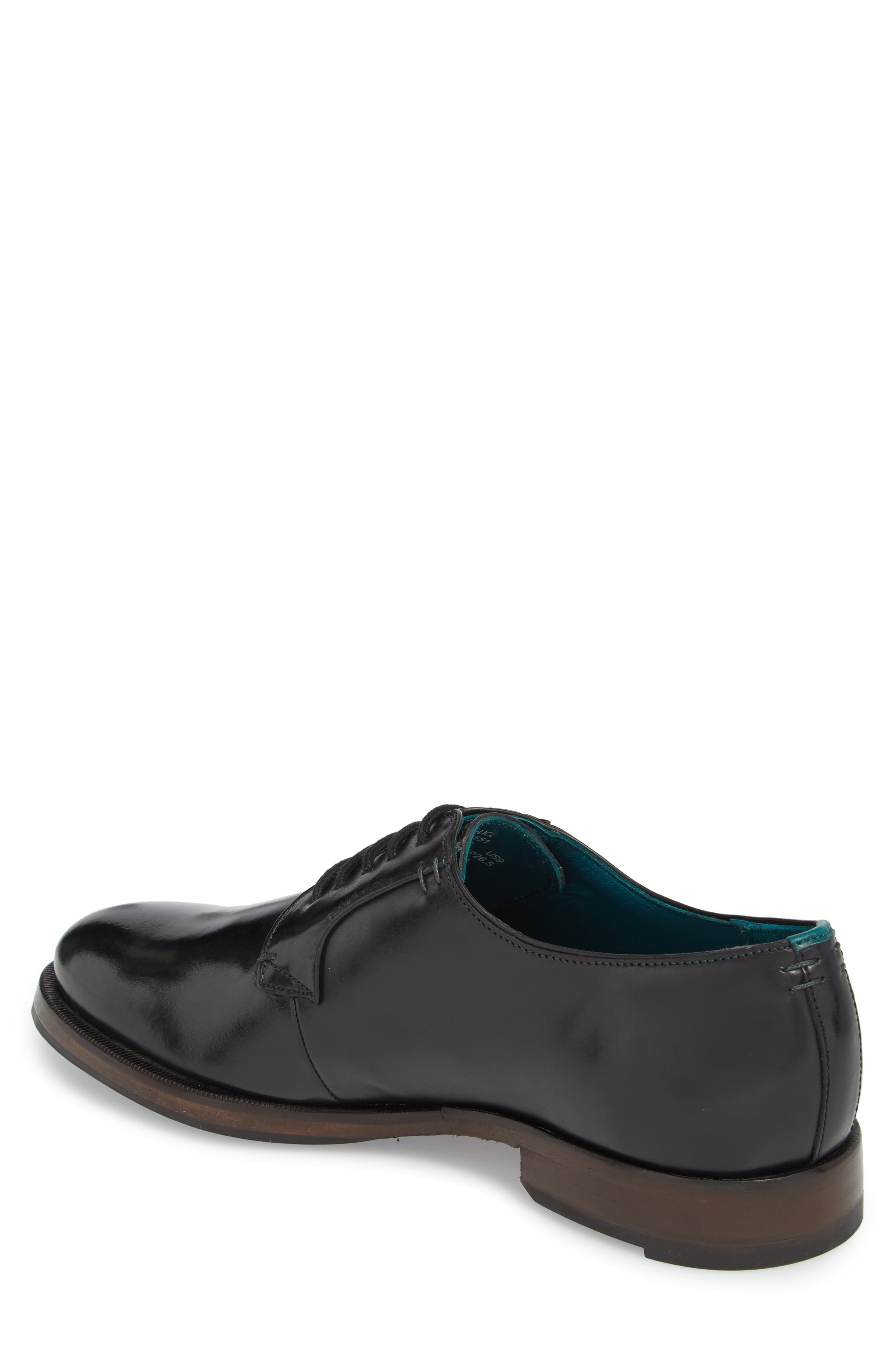 Silice Plain Toe Derby,                             Alternate thumbnail 2, color,                             BLACK LEATHER
