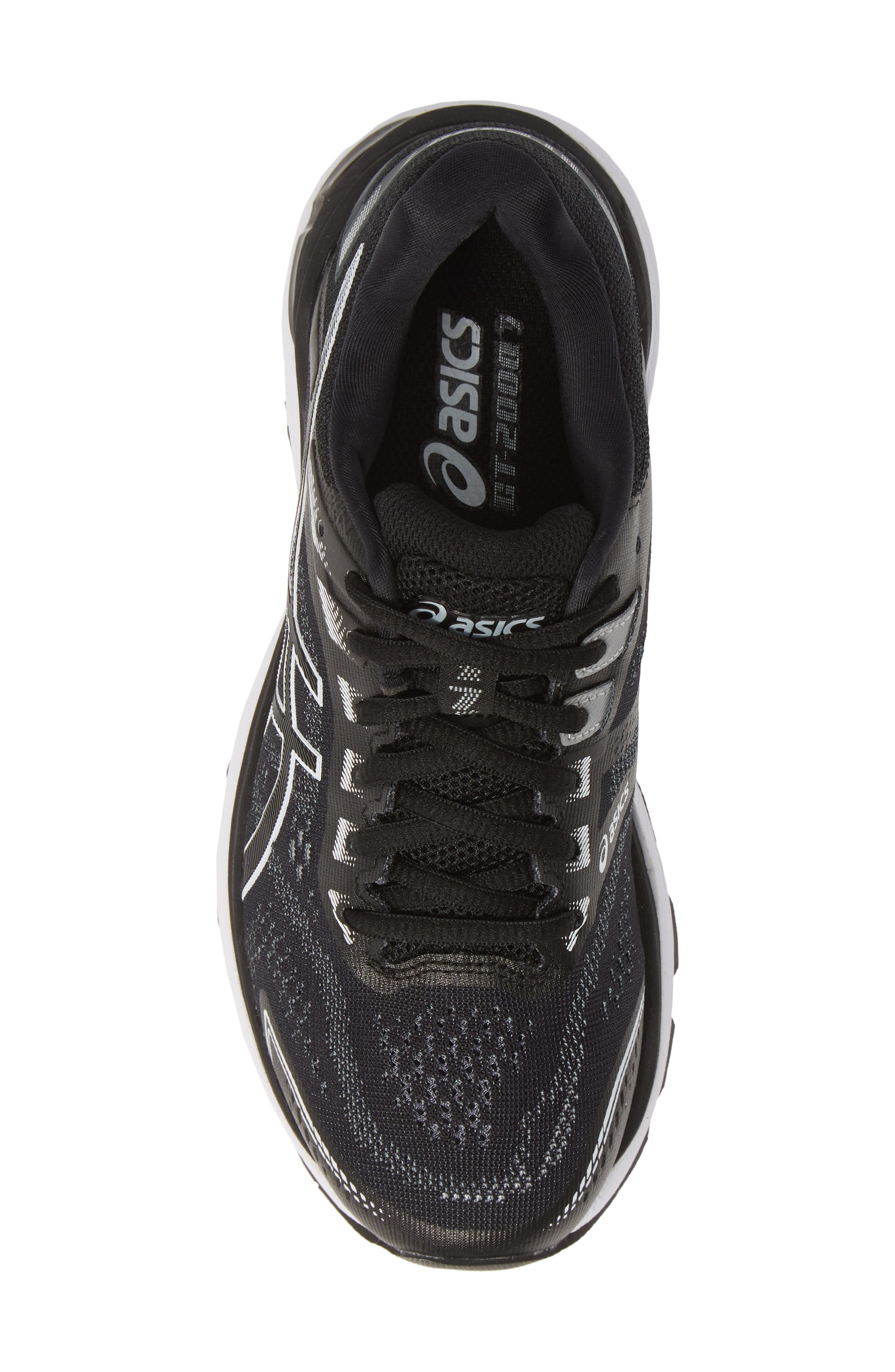 ASICS<SUP>®</SUP>,                             GT-2000 7 Running Shoe,                             Alternate thumbnail 5, color,                             BLACK/ WHITE