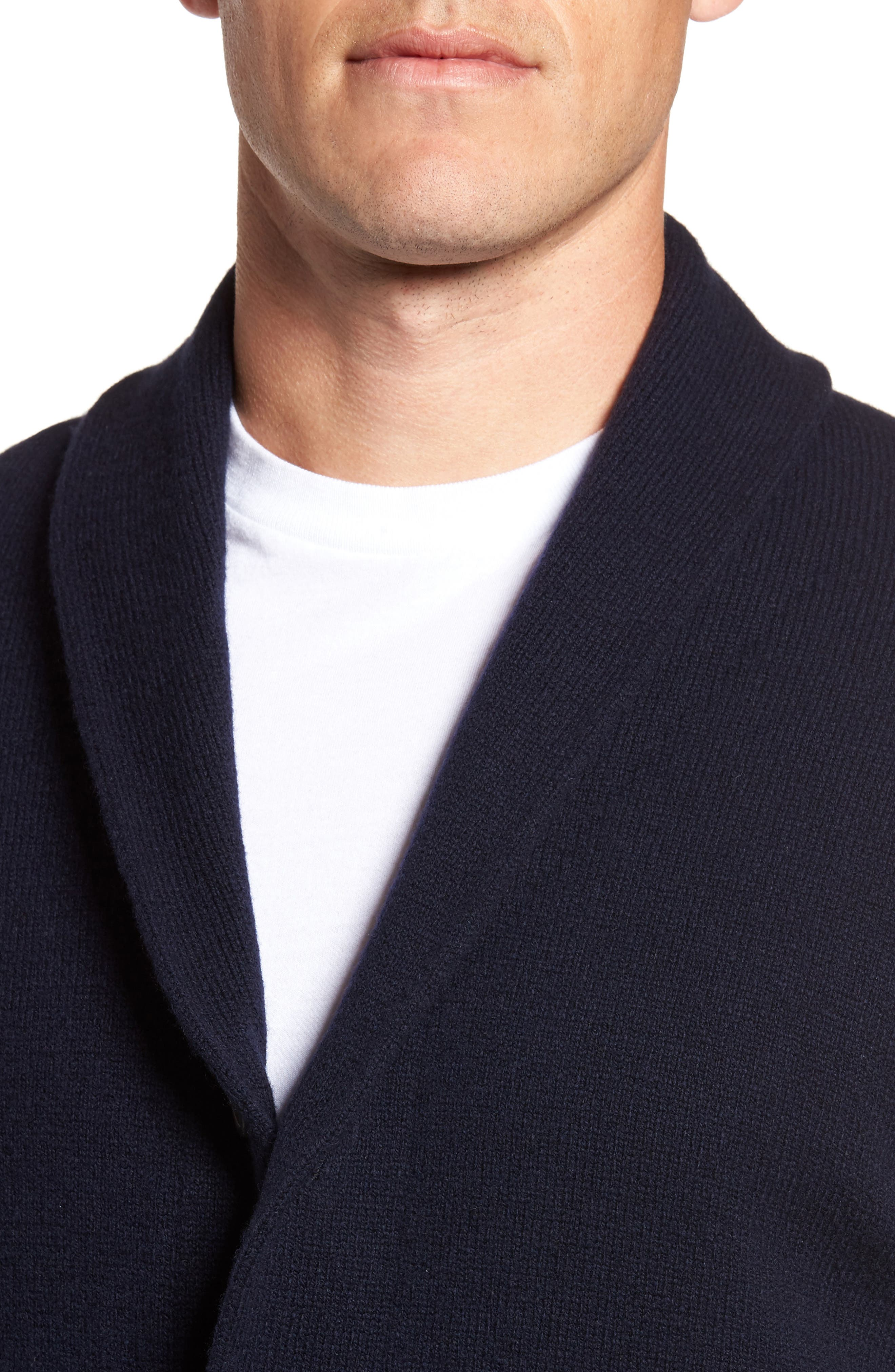 Slim Fit Merino Wool & Cashmere Cardigan,                             Alternate thumbnail 8, color,