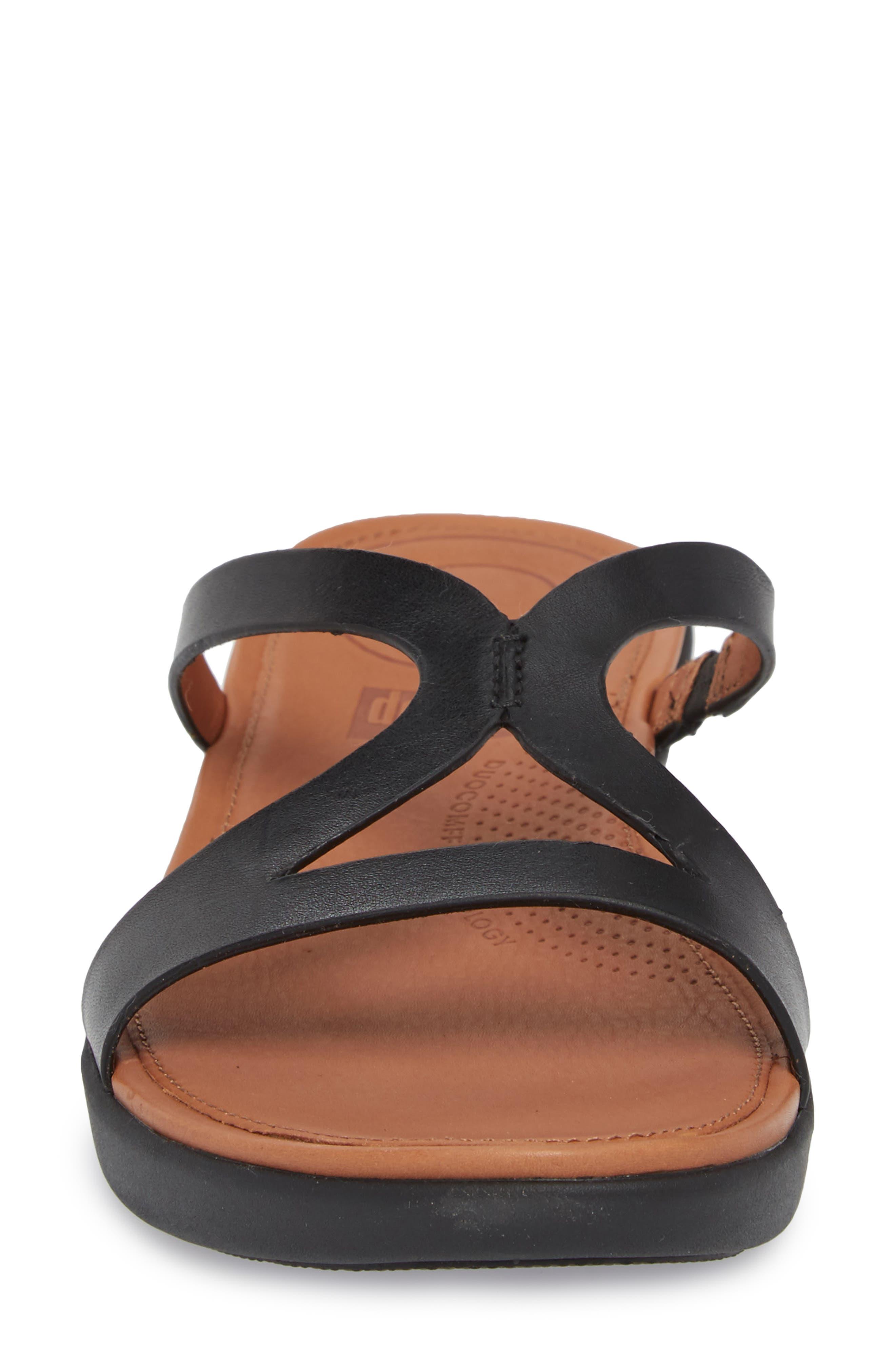 FITFLOP,                             Strata Slide Sandals,                             Alternate thumbnail 4, color,                             001