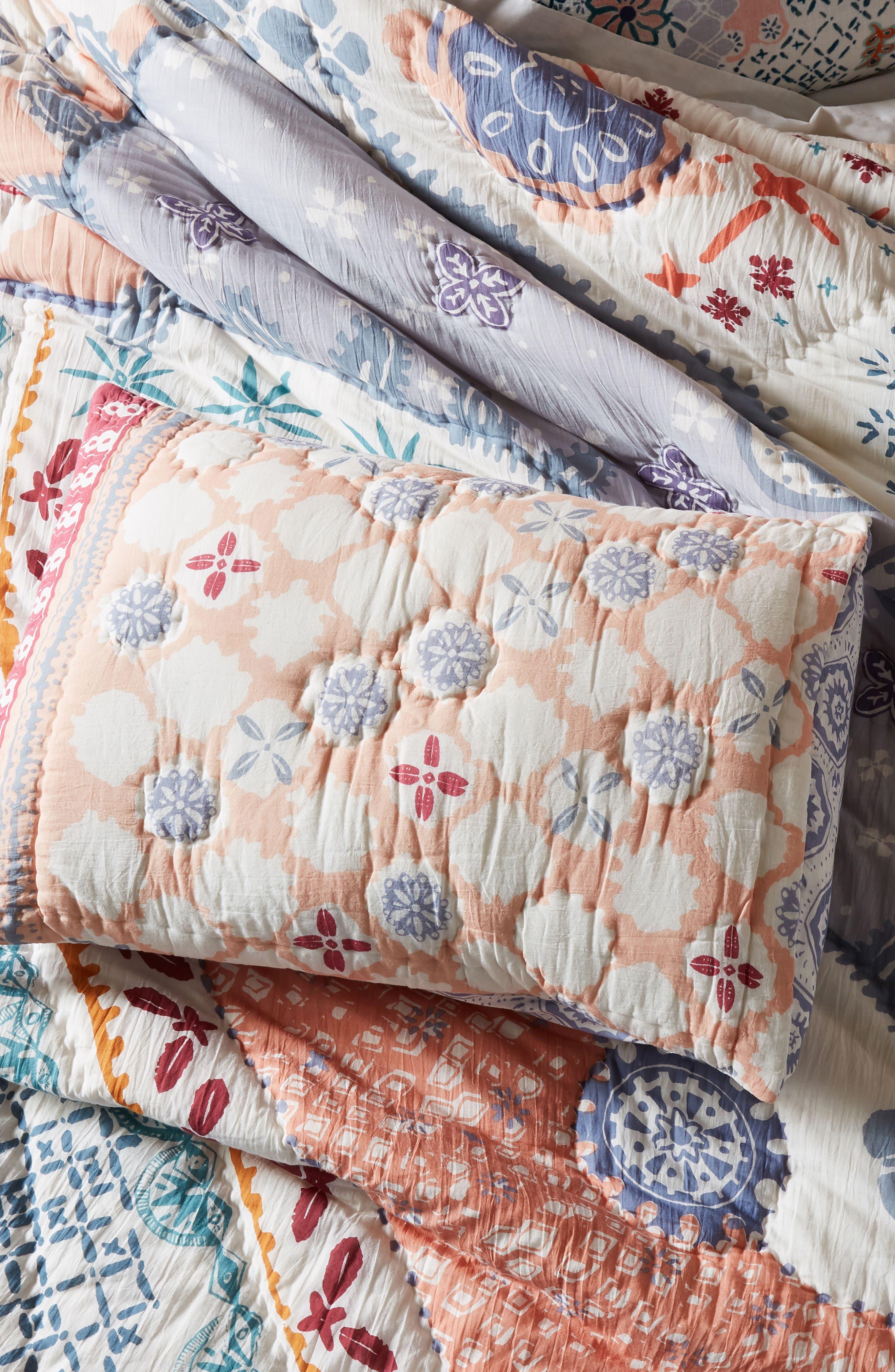 Laterza Pillow Shams,                             Alternate thumbnail 4, color,                             BLUE MULTI