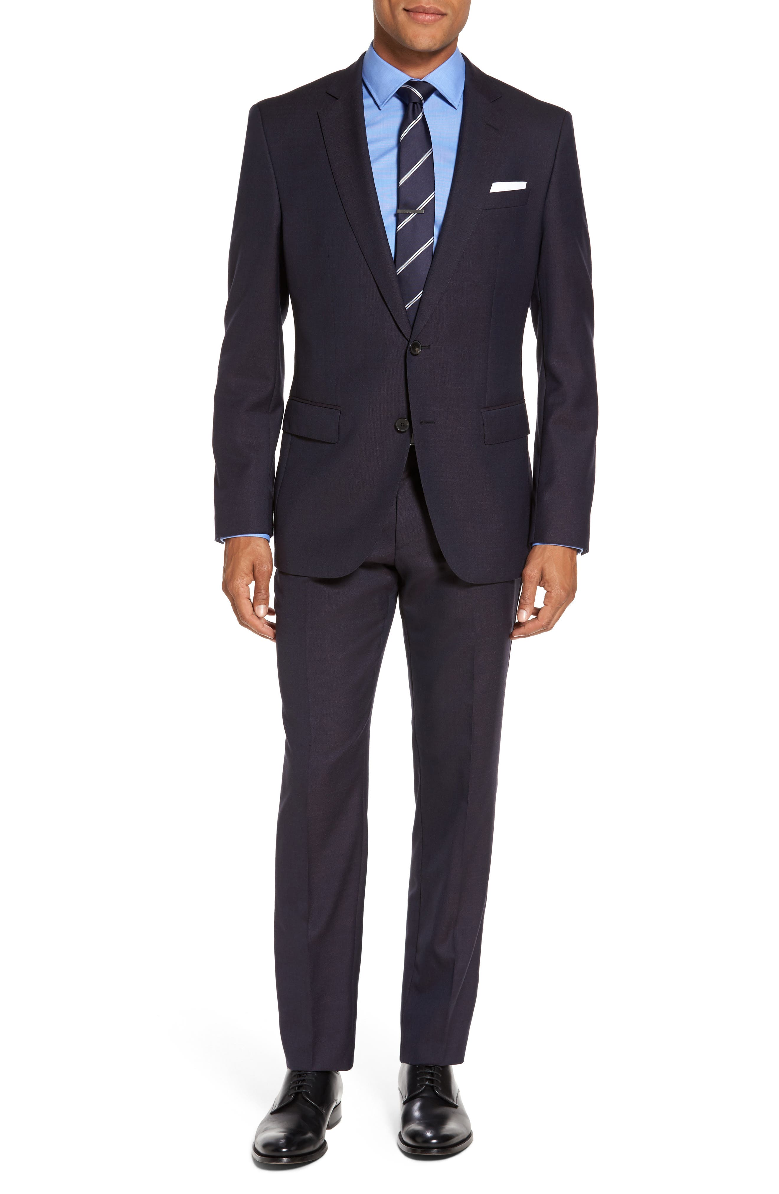 Huge/Genius Trim Fit Wool Suit,                         Main,                         color, 606