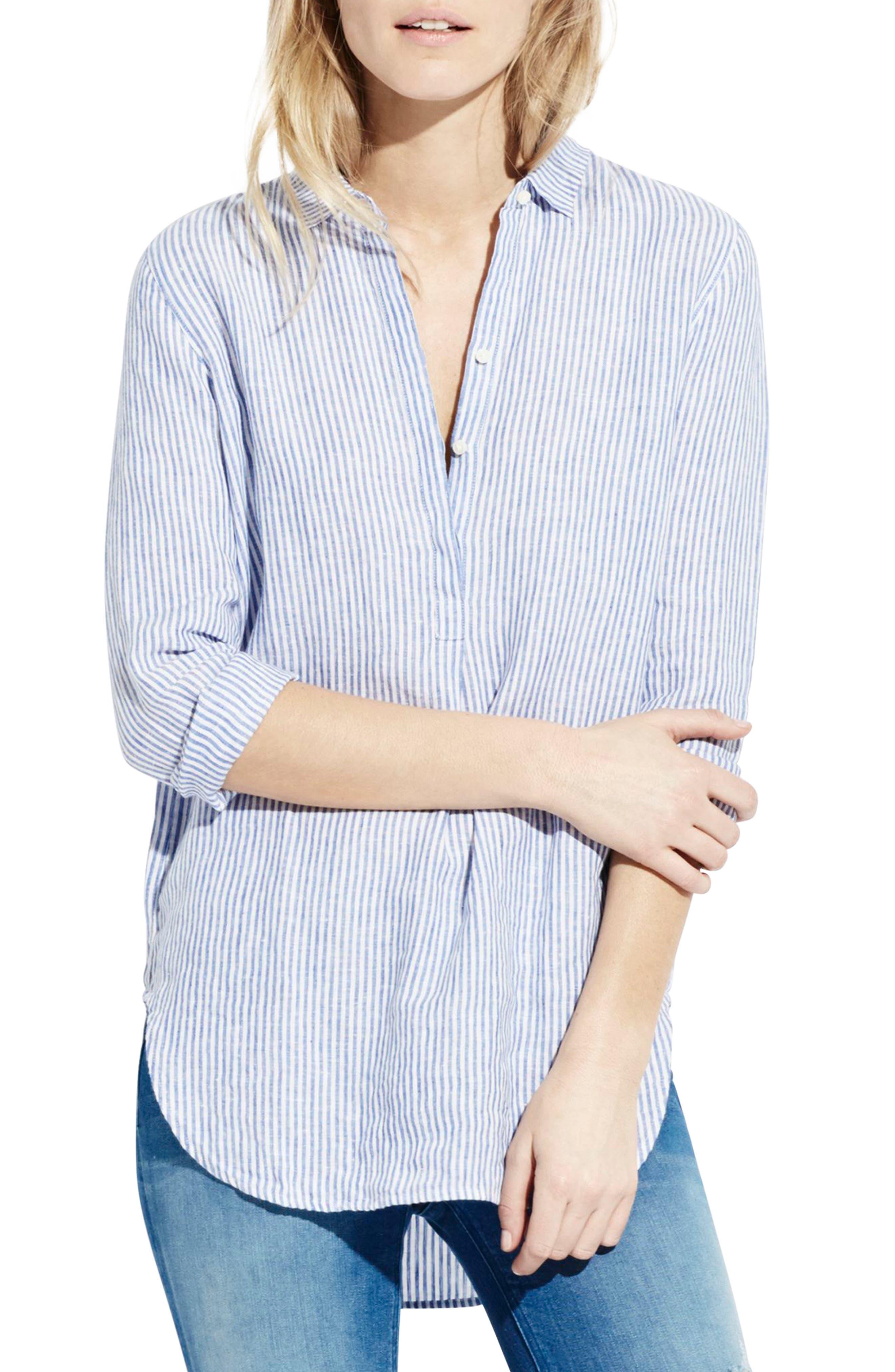 The Striped Easy Linen Shirt,                             Alternate thumbnail 2, color,                             414