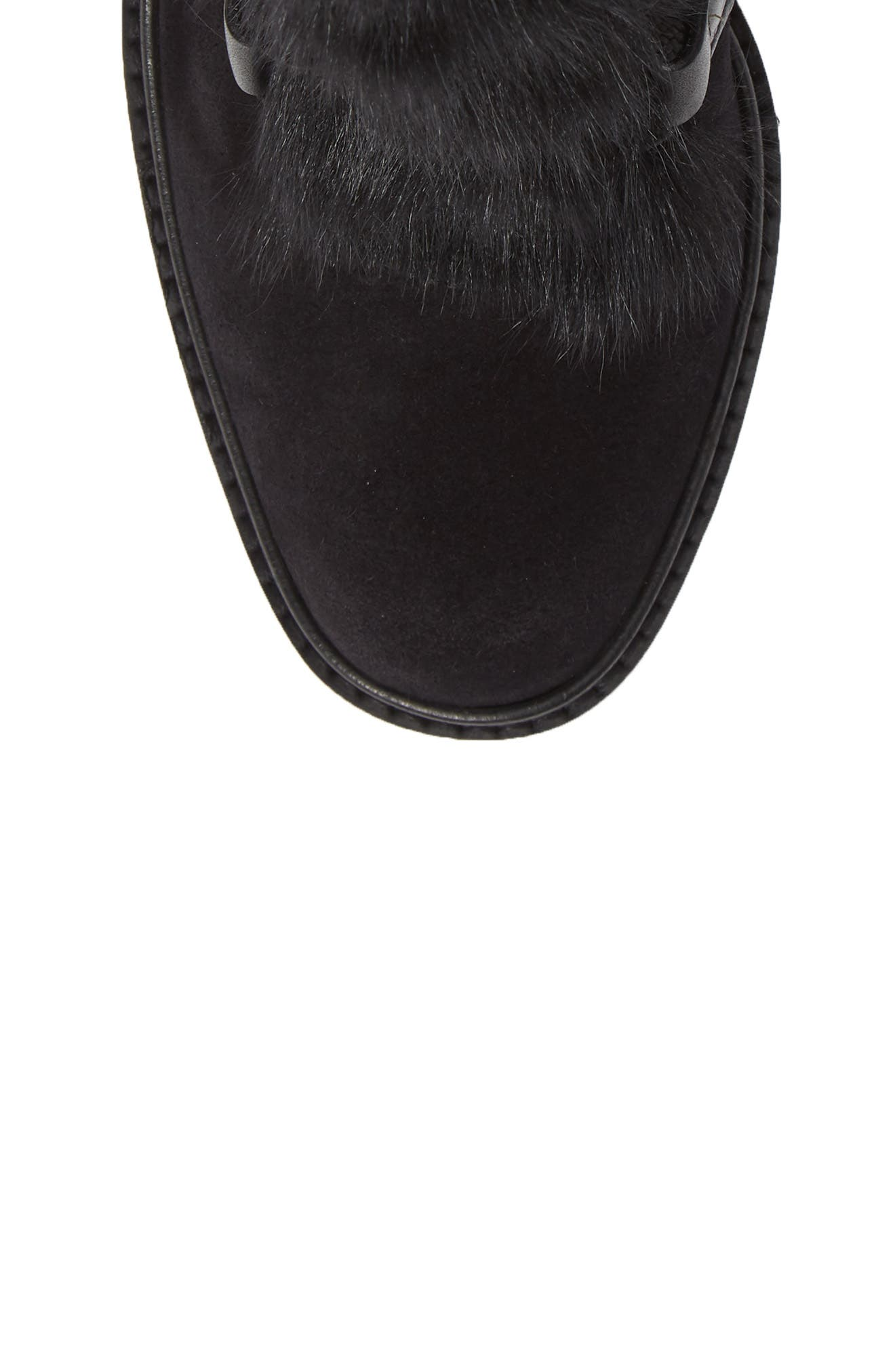 Wilmette Bootie with Genuine Shearling Trim,                             Alternate thumbnail 5, color,                             BLACK CHURRA