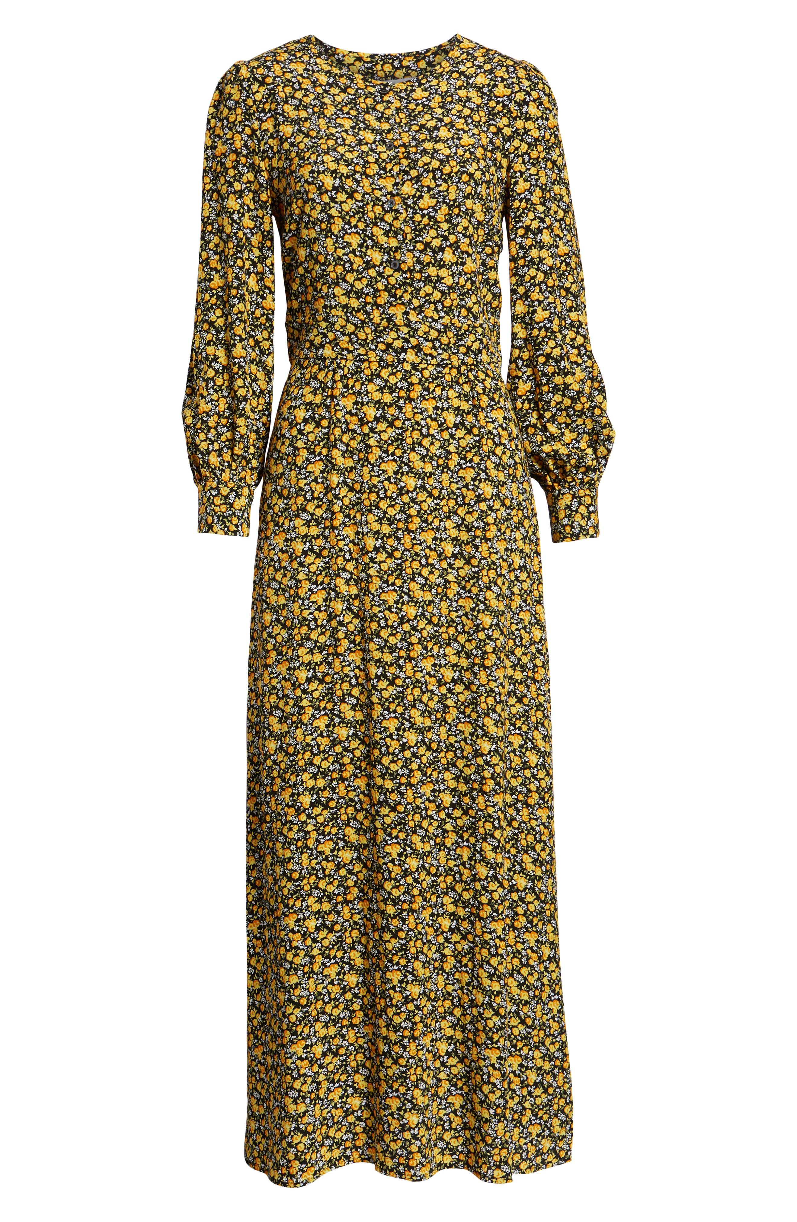 Ditzy Floral Dress,                             Alternate thumbnail 7, color,                             DITSY FLOWER