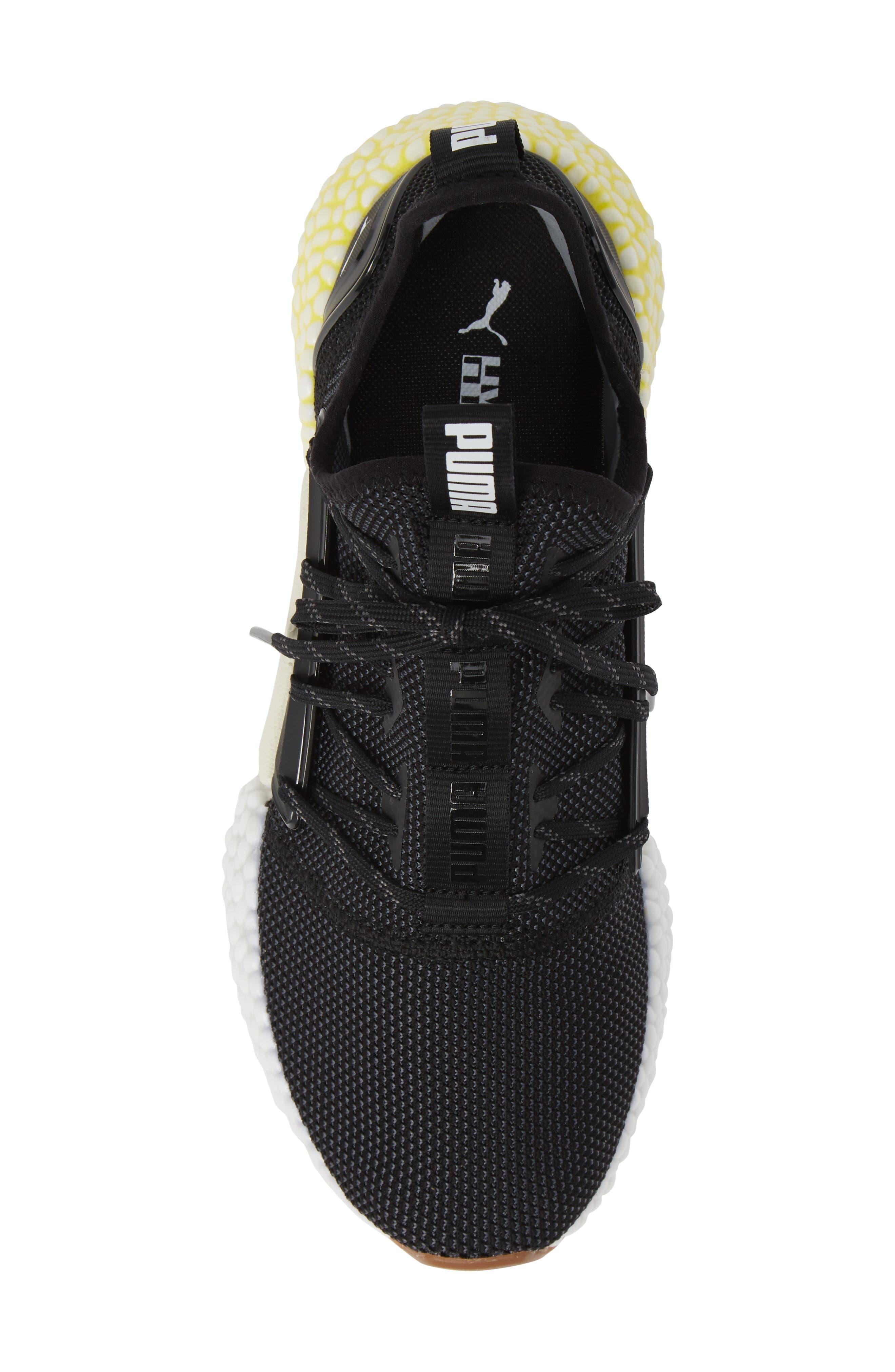 Hybrid Rocket Runner Sneaker,                             Alternate thumbnail 5, color,                             BLACK/ WHITE/ BLAZING YELLOW