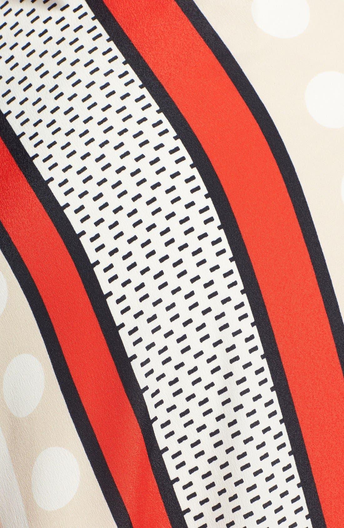 ELIZA J,                             Halter Scarf Print Woven Maxi Dress,                             Alternate thumbnail 8, color,                             PRINT