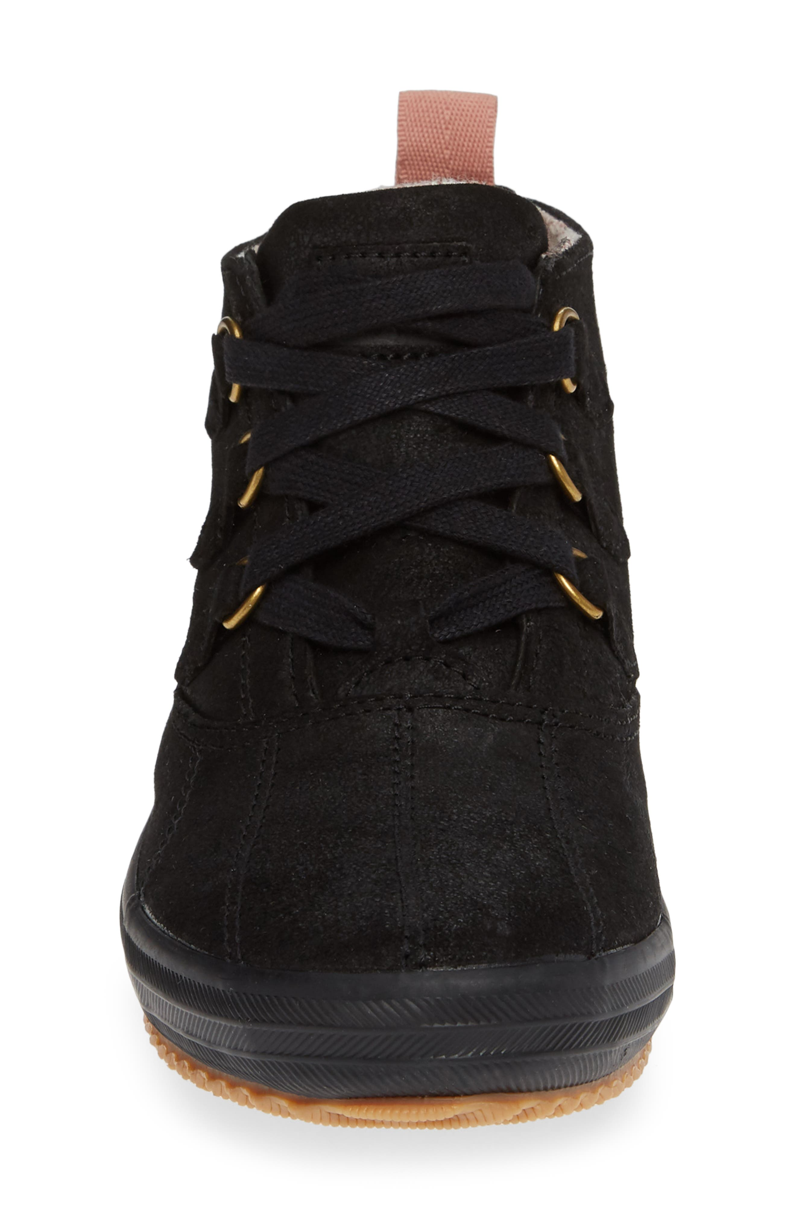 Scout Chukka Boot,                             Alternate thumbnail 4, color,                             BLACK SUEDE