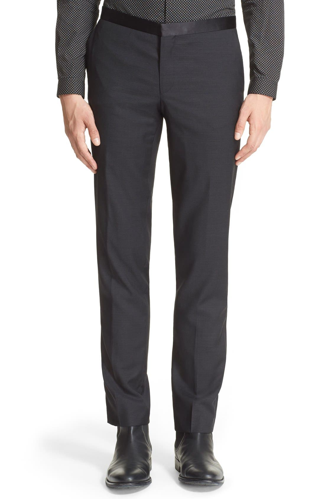 'Netting' Wool Dress Pants,                         Main,                         color, 001