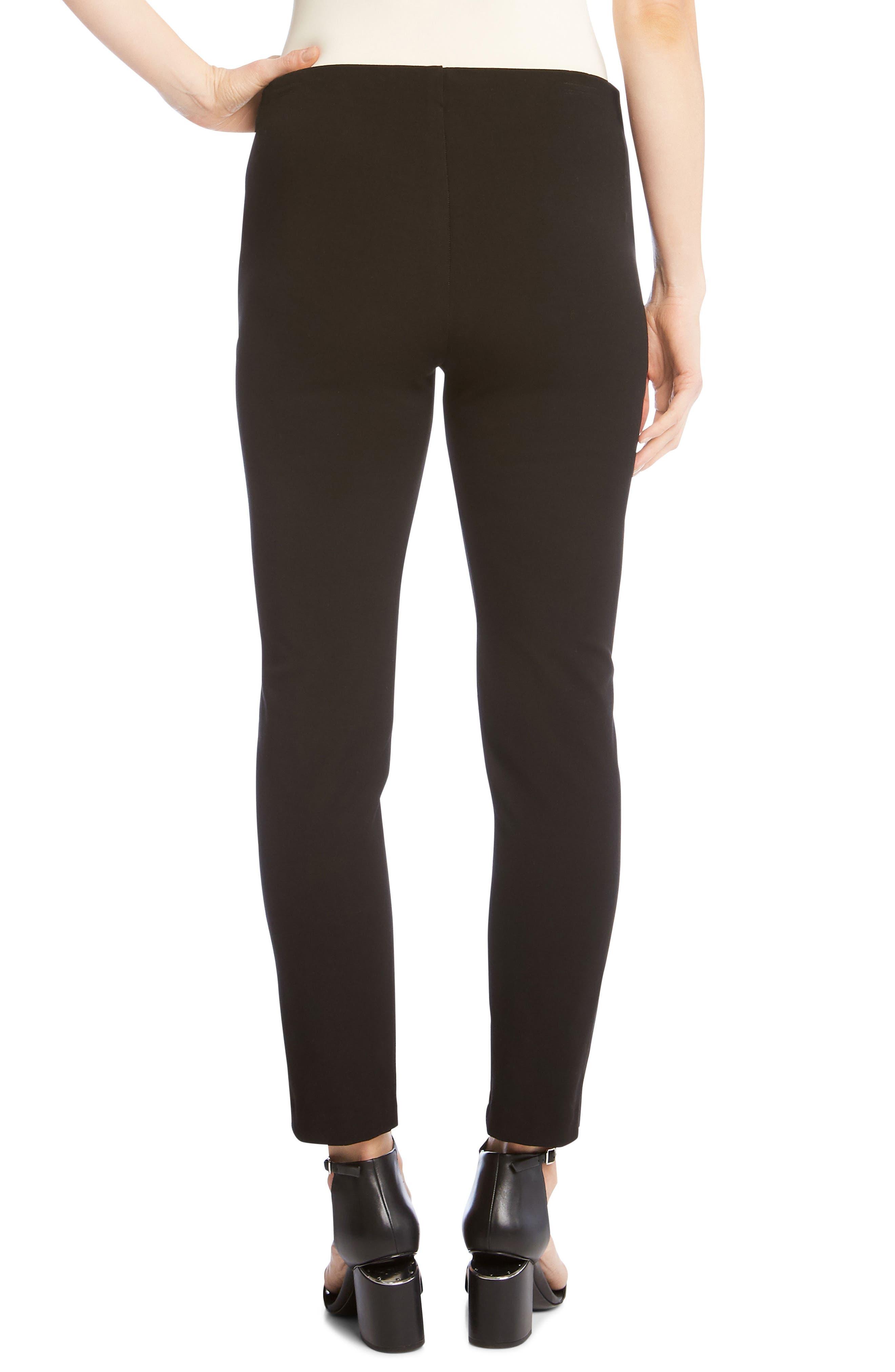 Piper Embellished Ankle Skinny Pants,                             Alternate thumbnail 2, color,                             BLACK