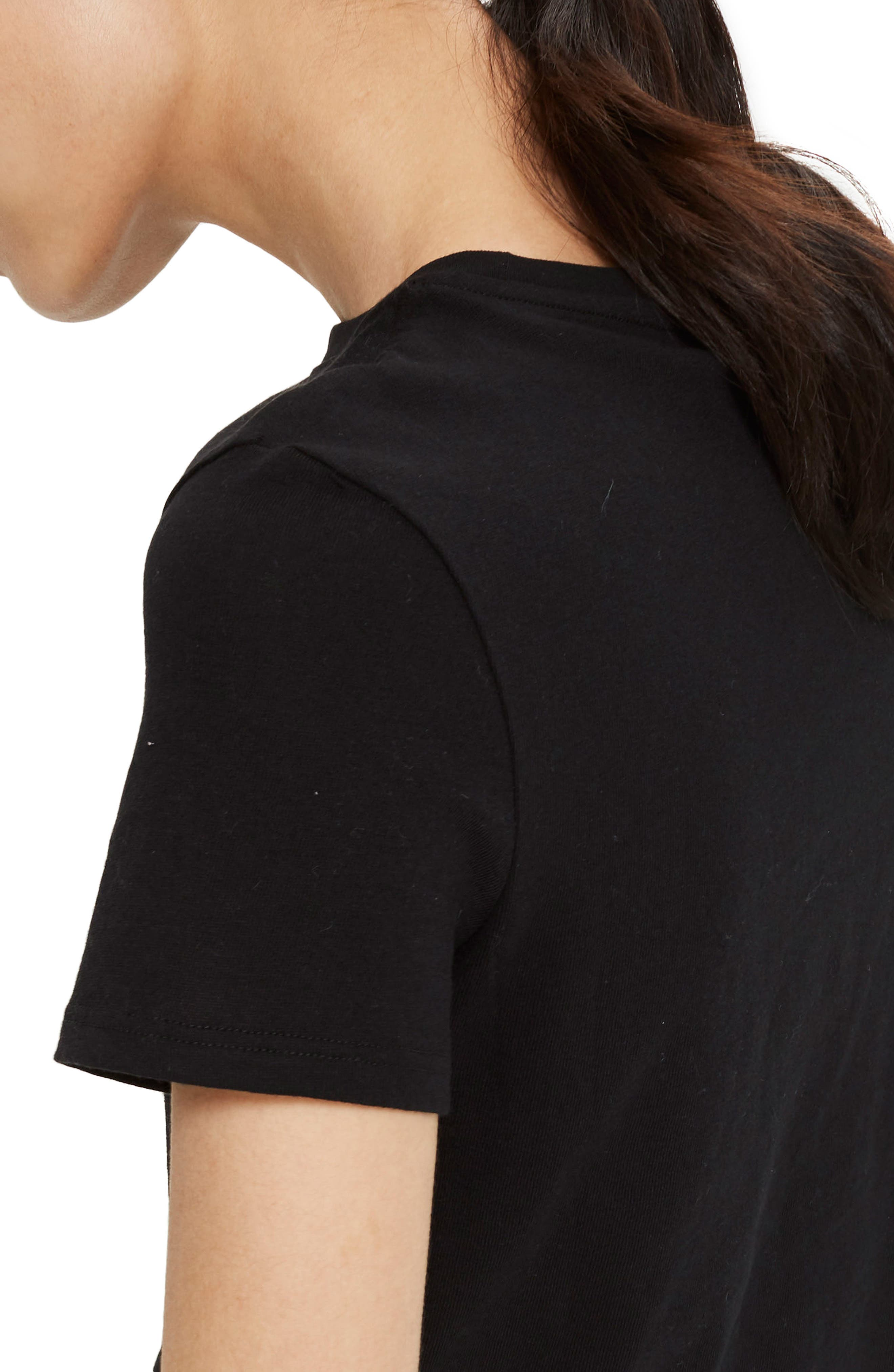 Basic Crop Tee,                             Alternate thumbnail 2, color,                             001