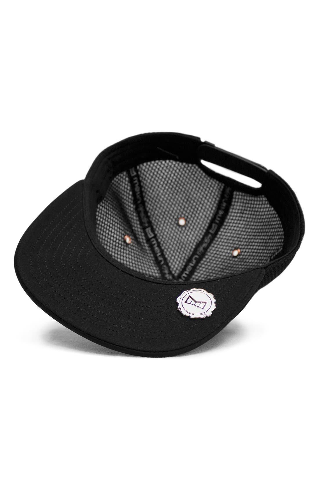 'The Majesty' Mesh Back Snapback Hat,                             Alternate thumbnail 3, color,                             BLACK