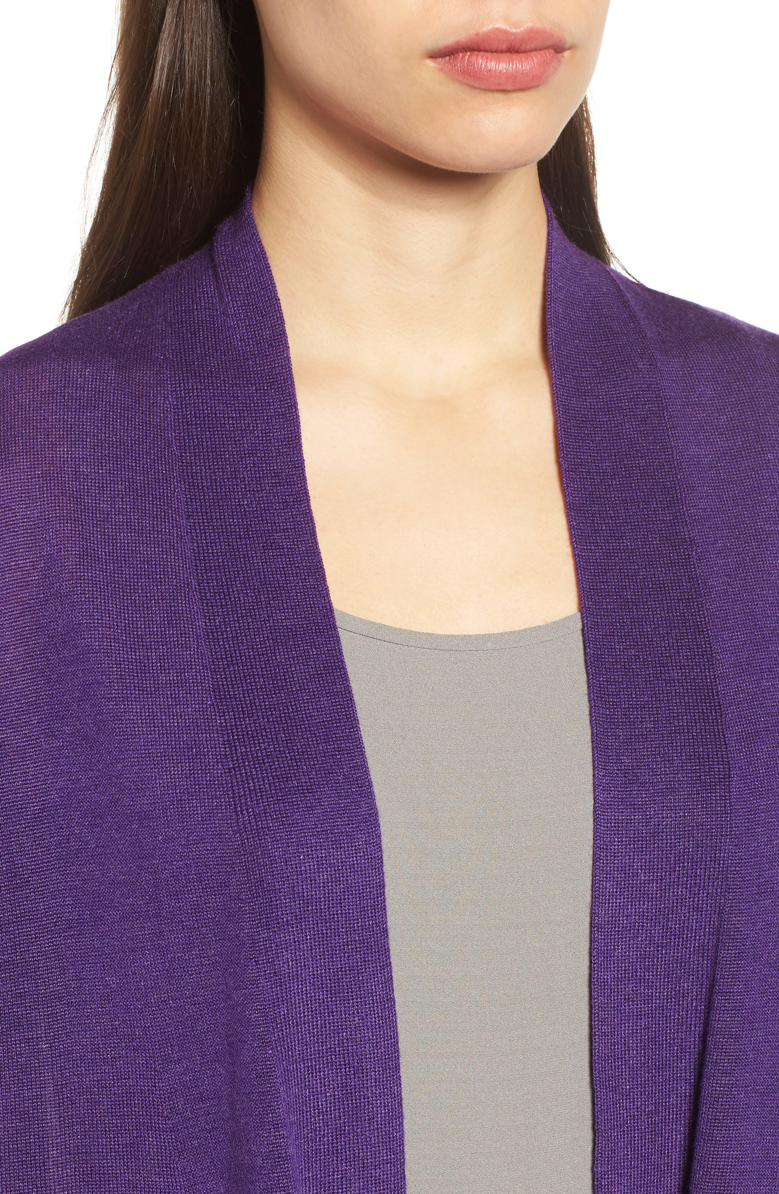 Tencel<sup>®</sup> Lyocell & Merino Wool Shaped Cardigan,                             Alternate thumbnail 19, color,