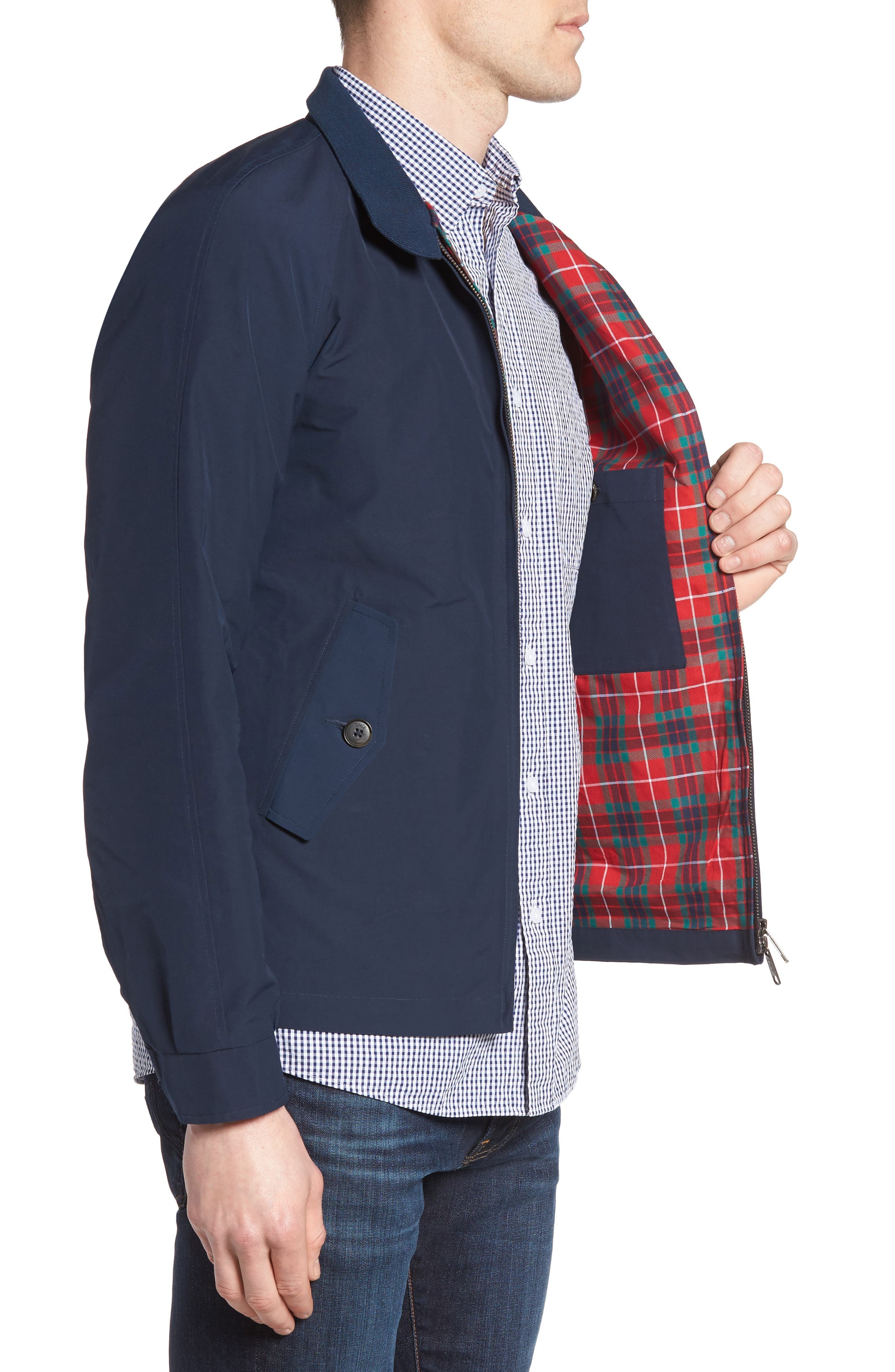 G4 Water Repellent Harrington Jacket,                             Alternate thumbnail 3, color,                             NAVY