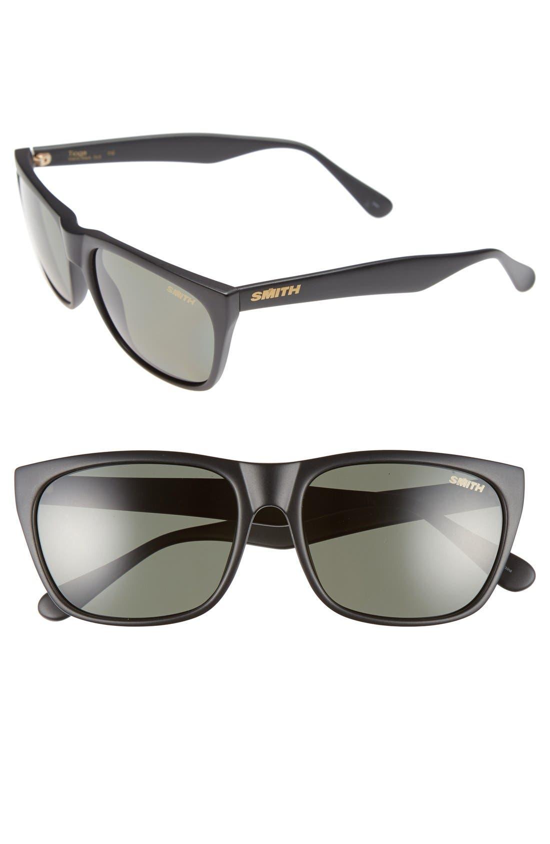 'Tioga' 57mm Polarized Sunglasses,                             Main thumbnail 1, color,                             001
