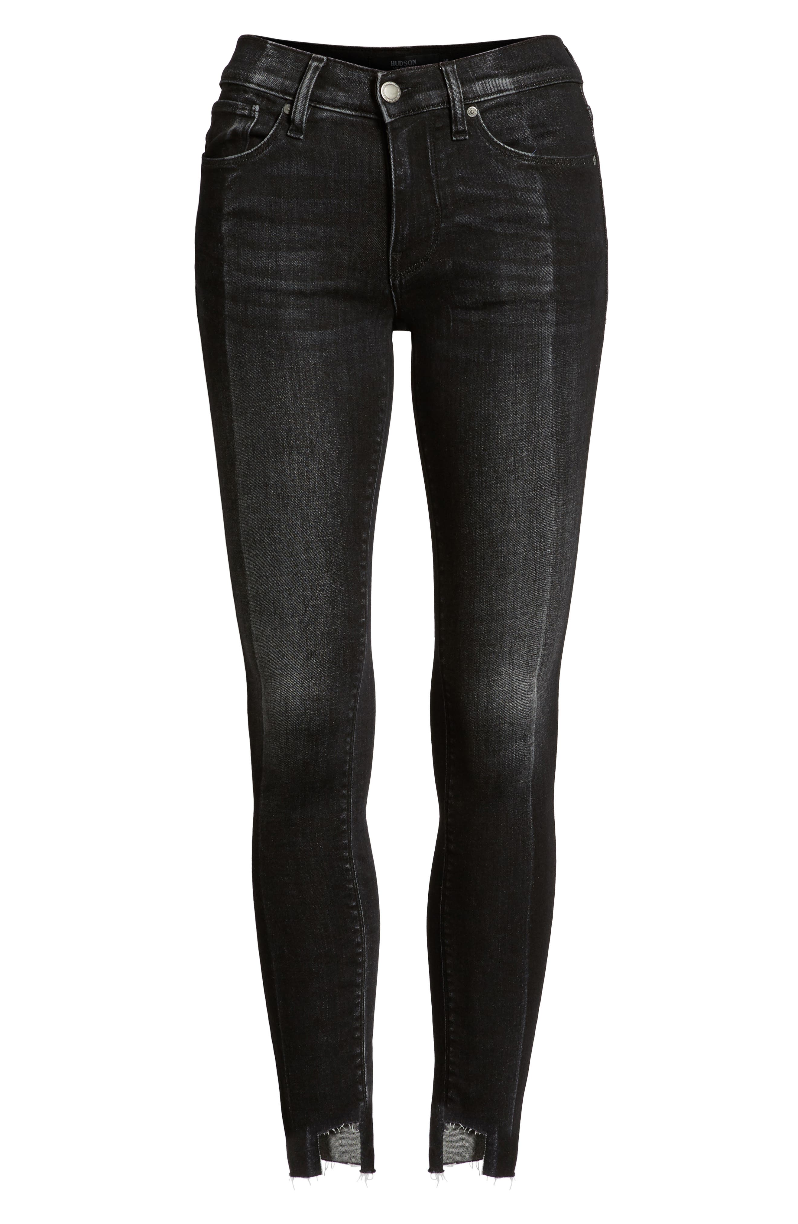 Nico Step Hem Crop Super Skinny Jeans,                             Alternate thumbnail 7, color,                             020