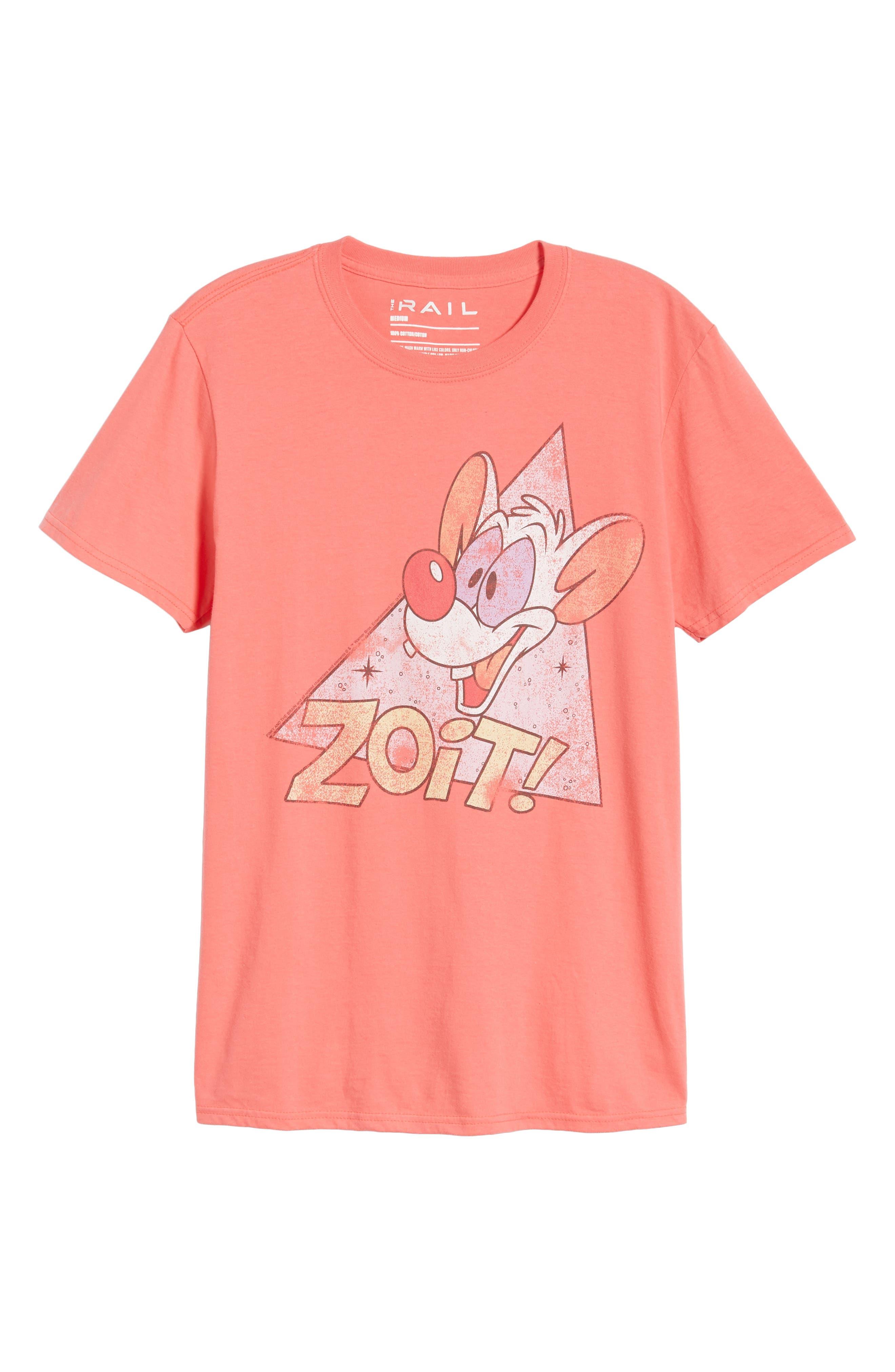 Zoit Graphic T-Shirt,                             Alternate thumbnail 6, color,                             CORAL ZOIT