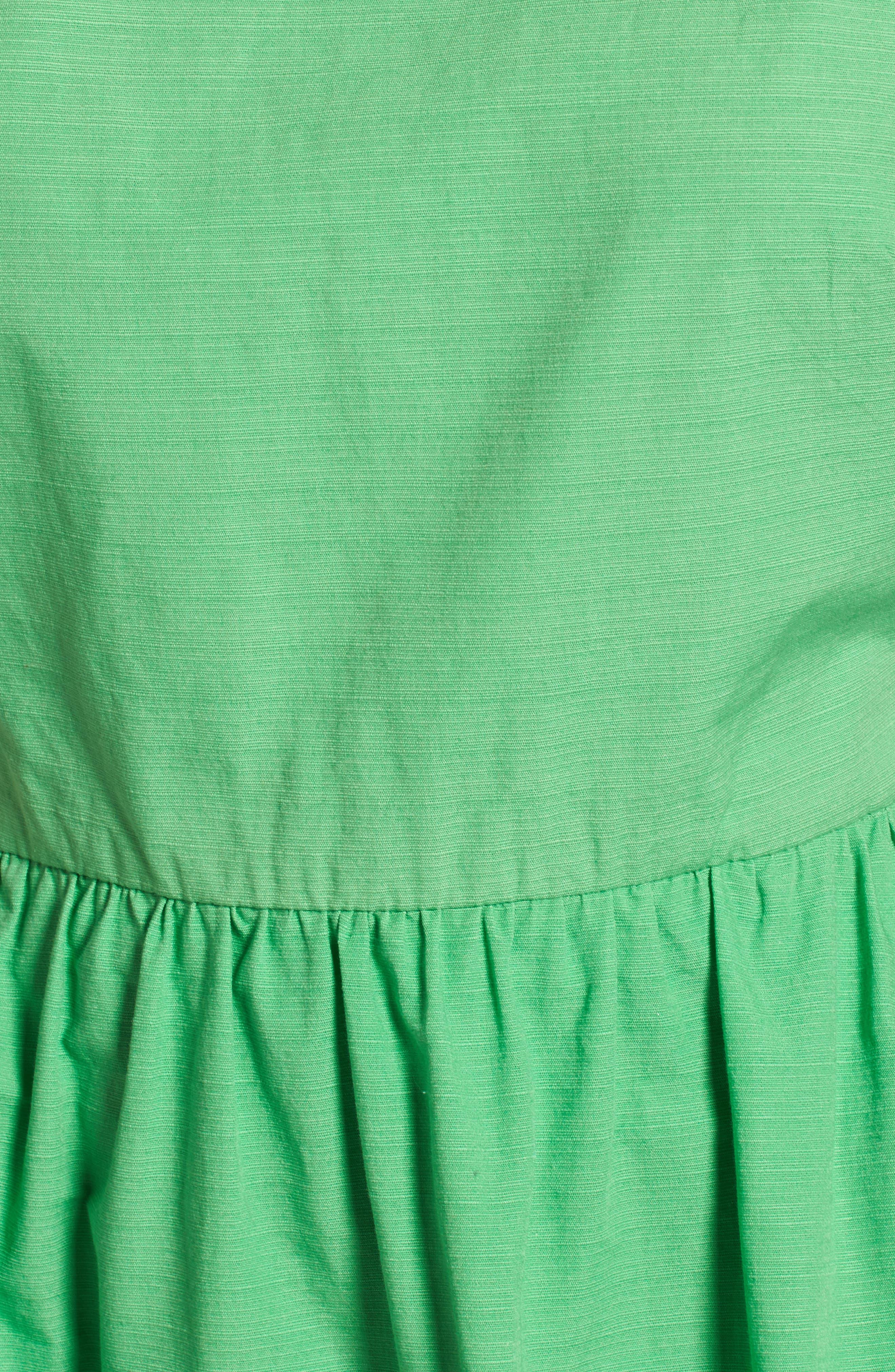 Ruffle Fit & Flare Midi Dress,                             Alternate thumbnail 5, color,                             330