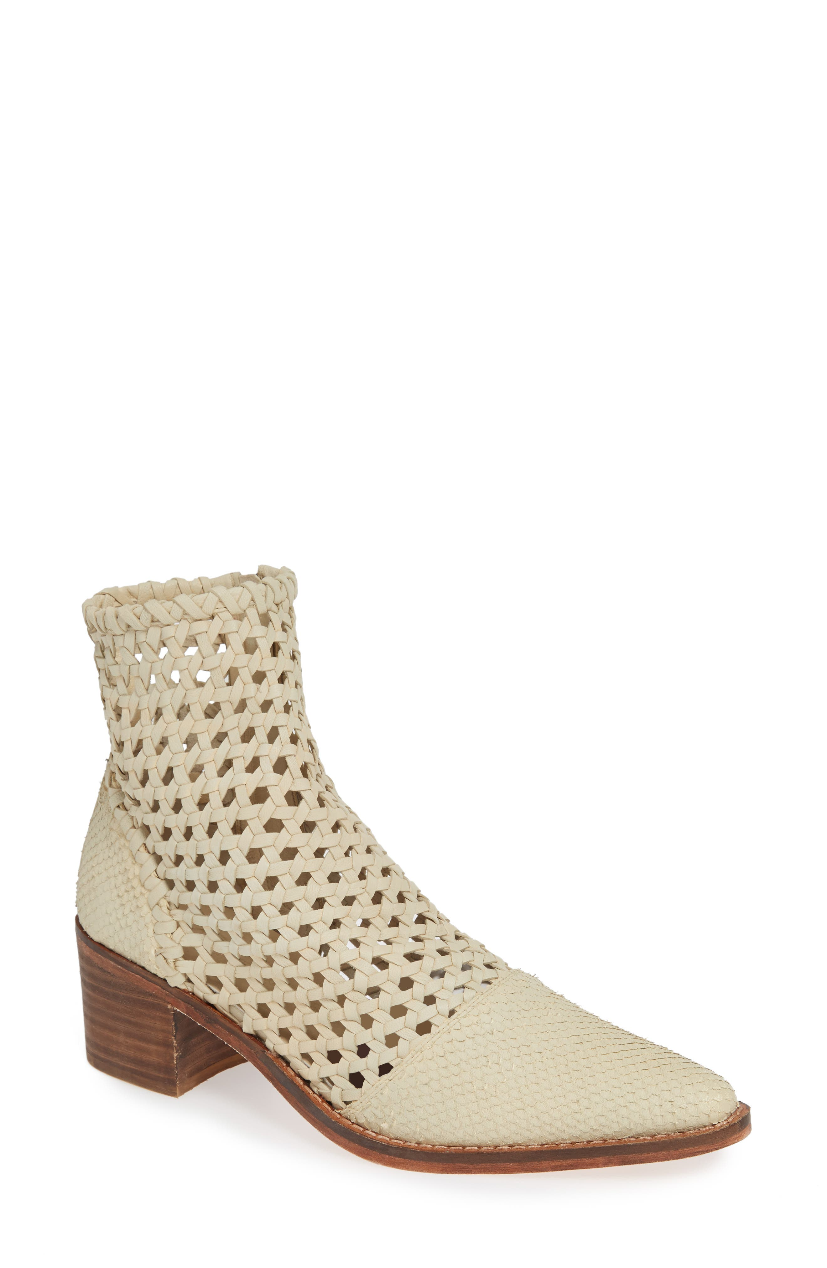 Free People In The Loop Woven Bootie, White