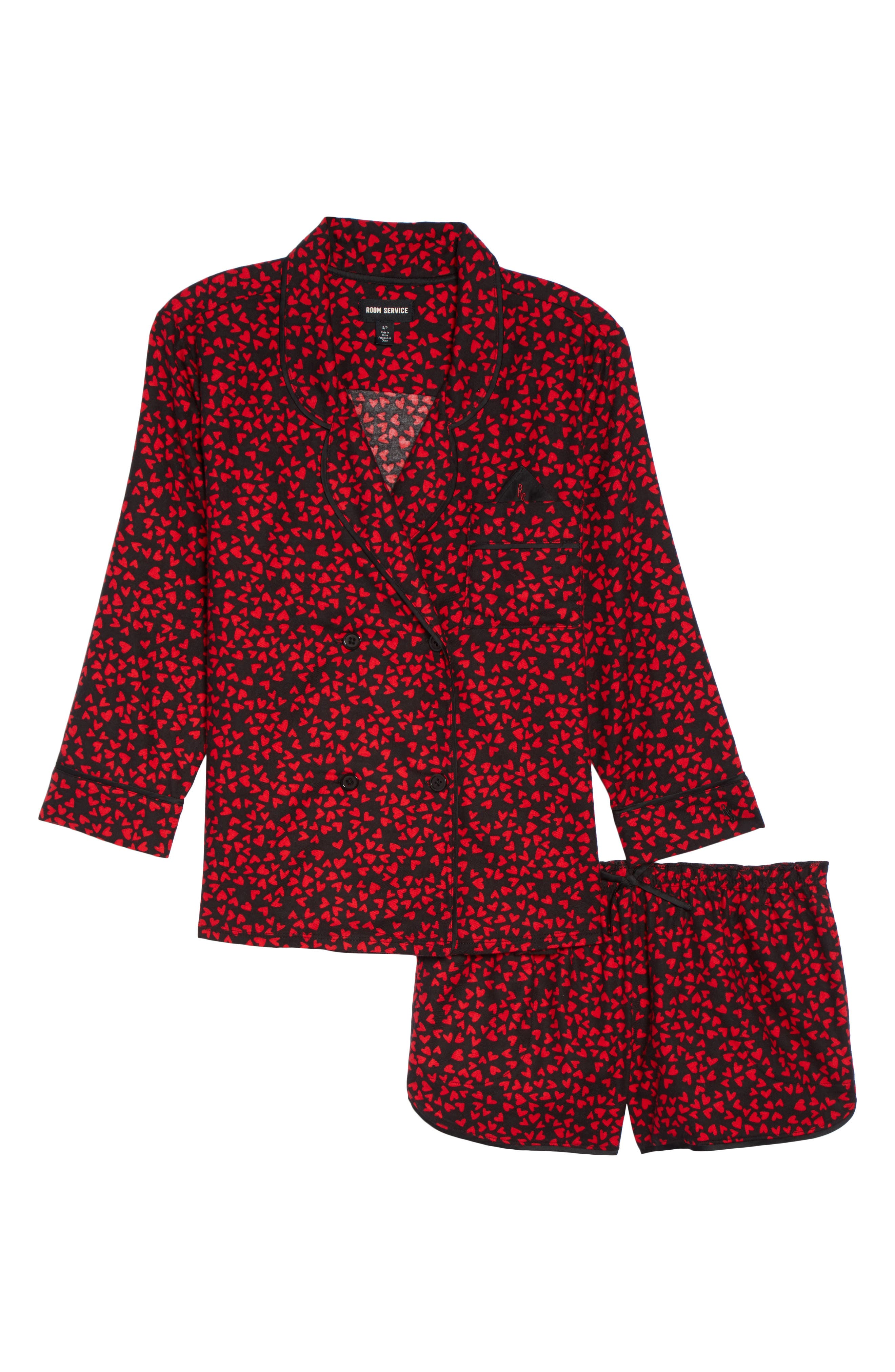 Shorty Flannel Pajamas,                             Alternate thumbnail 18, color,