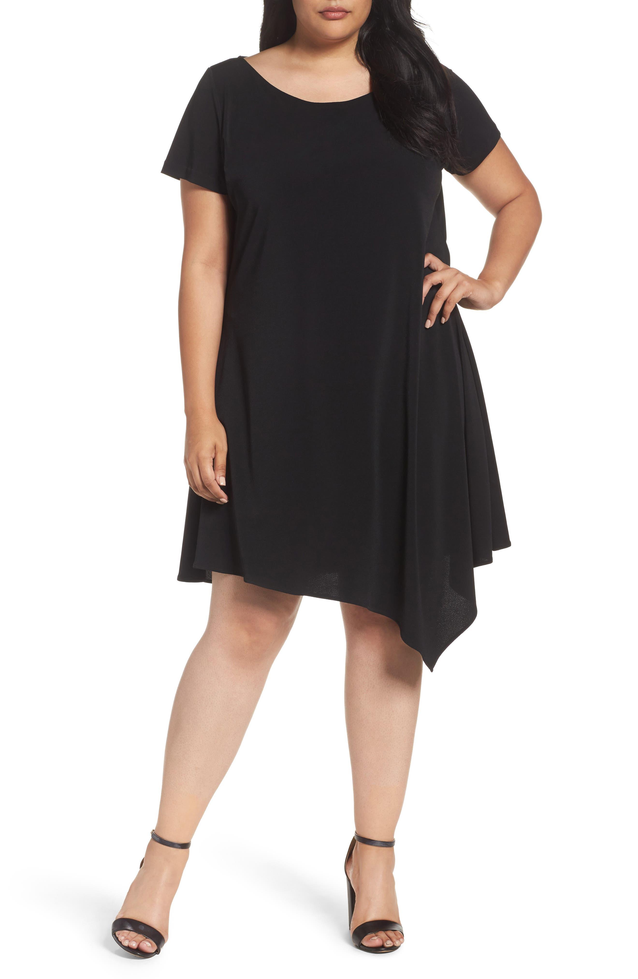 Darien Scarf Hem Dress,                         Main,                         color, 001