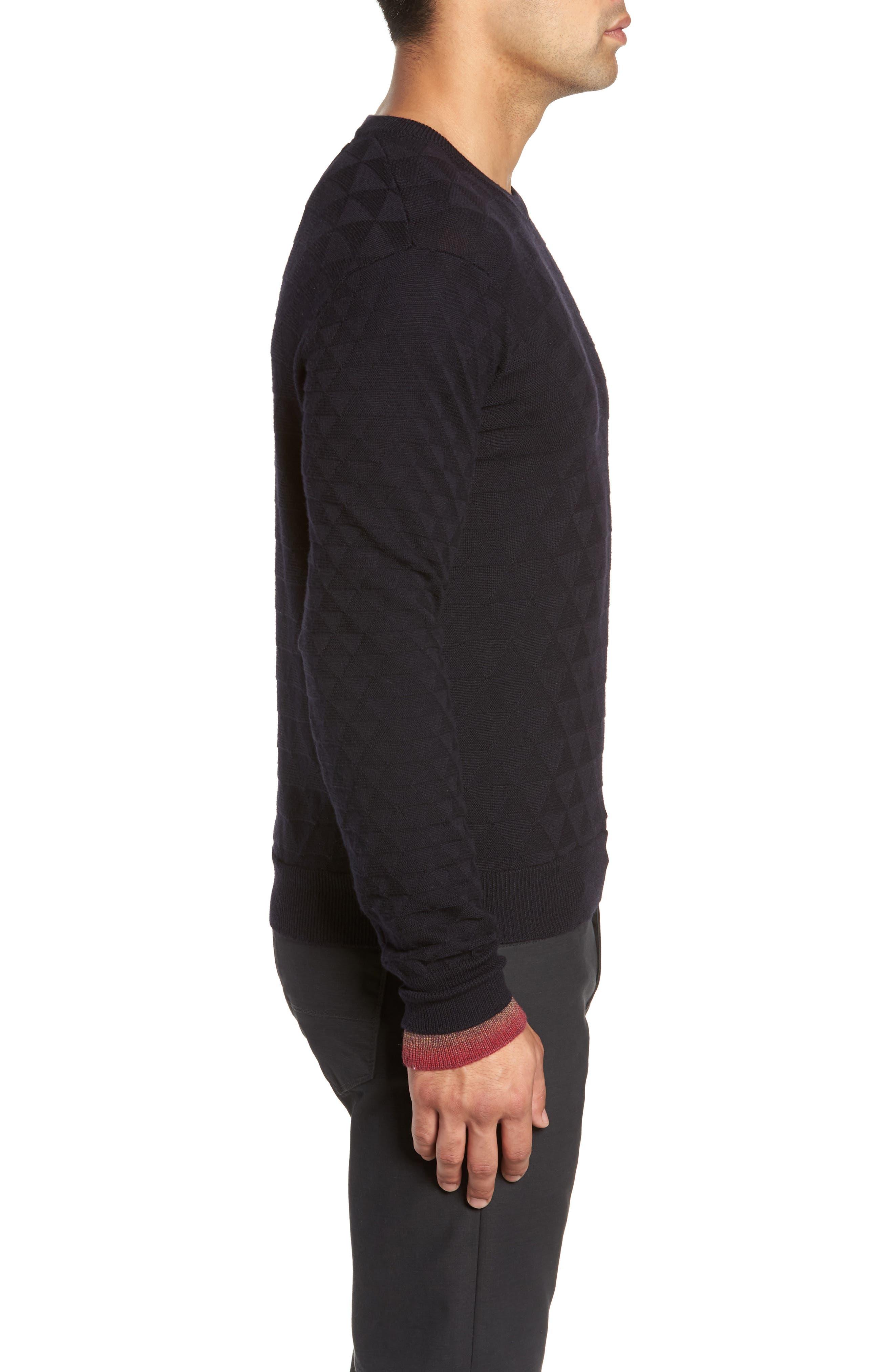 Blackburn Classic Fit Sweater,                             Alternate thumbnail 3, color,                             BLACK