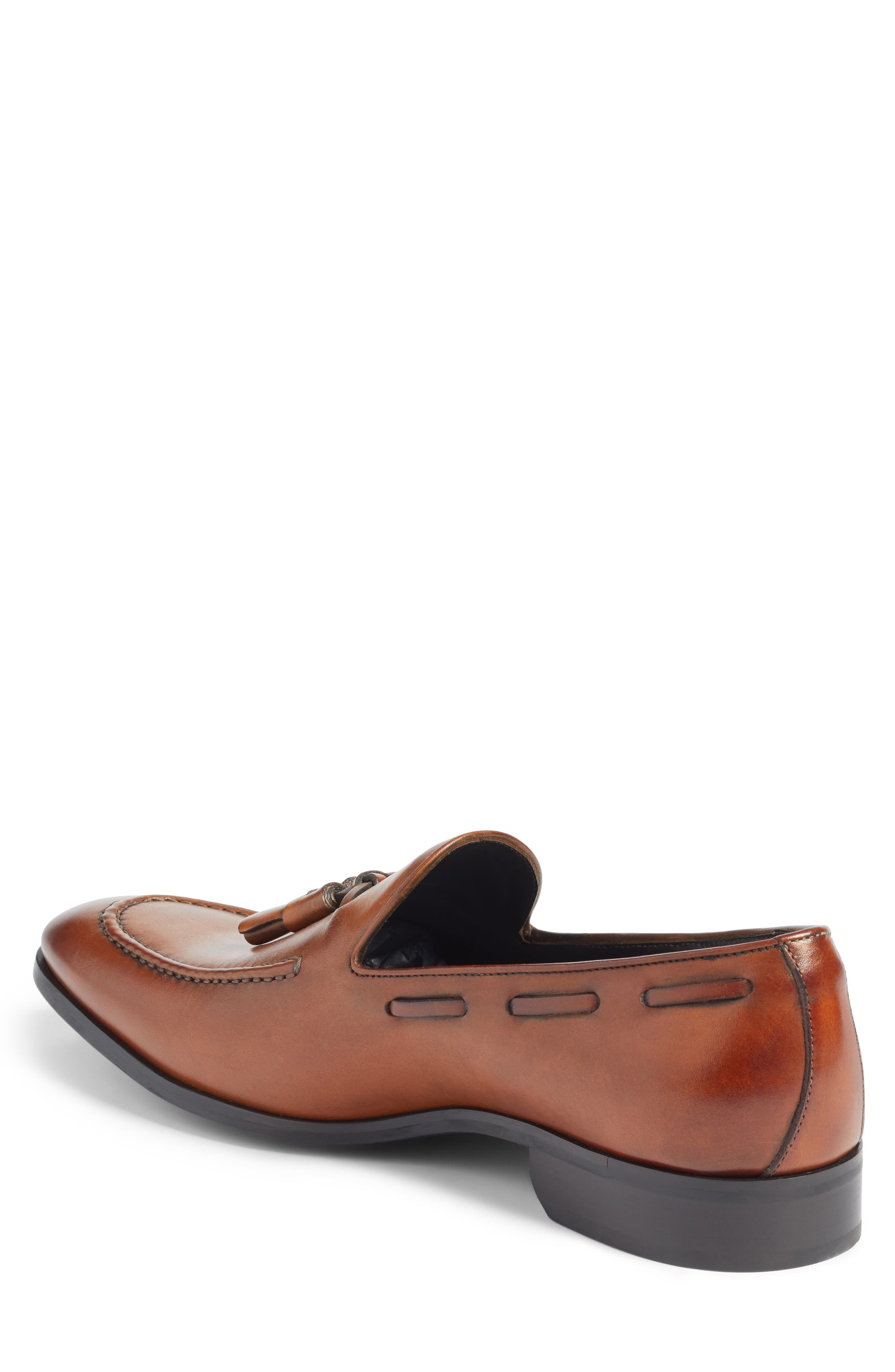 Barclay Tassel Loafer,                             Alternate thumbnail 2, color,                             COGNAC LEATHER