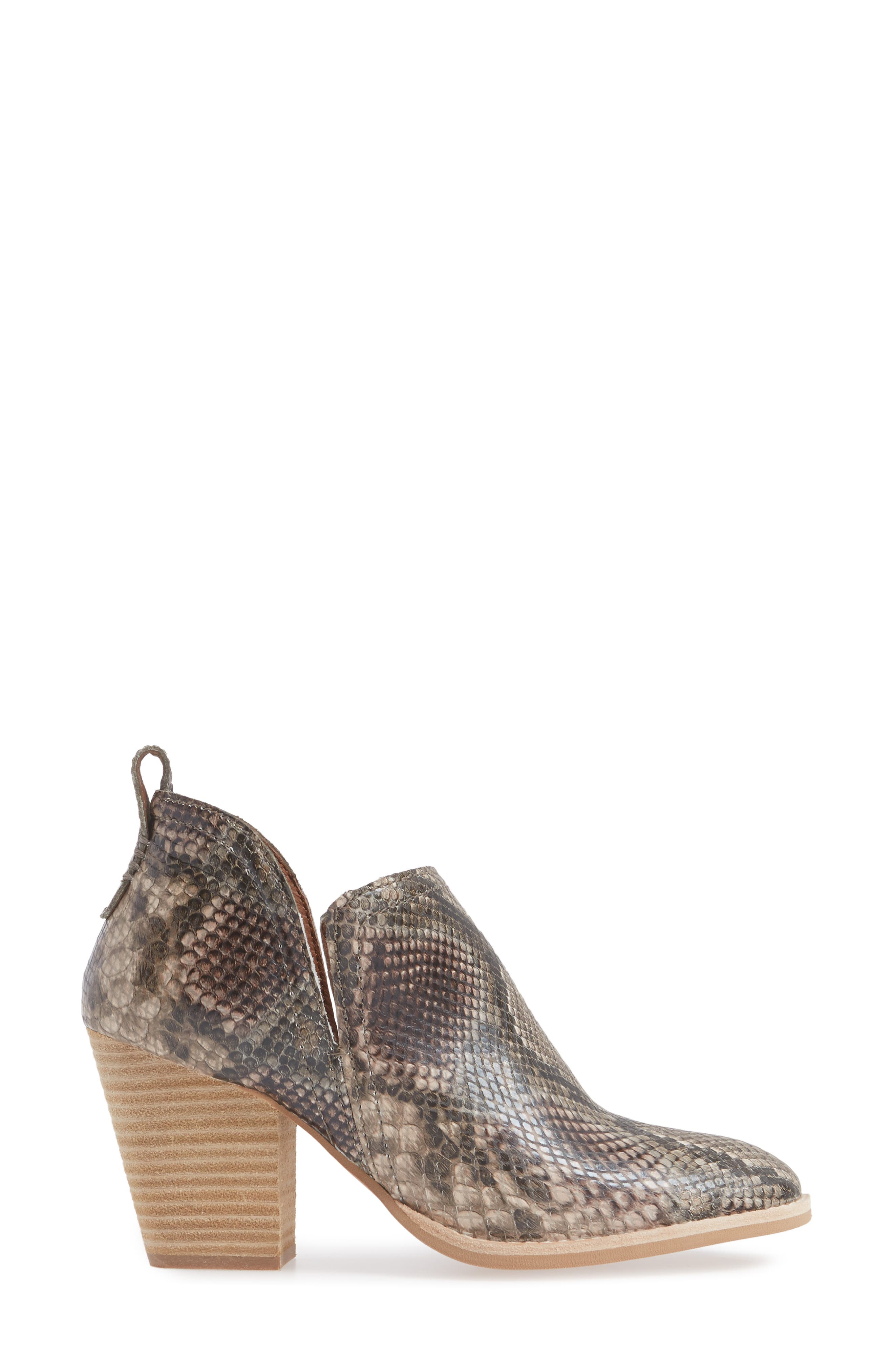 Rosalee Bootie,                             Alternate thumbnail 3, color,                             TAUPE SNAKE PRINT MULTI