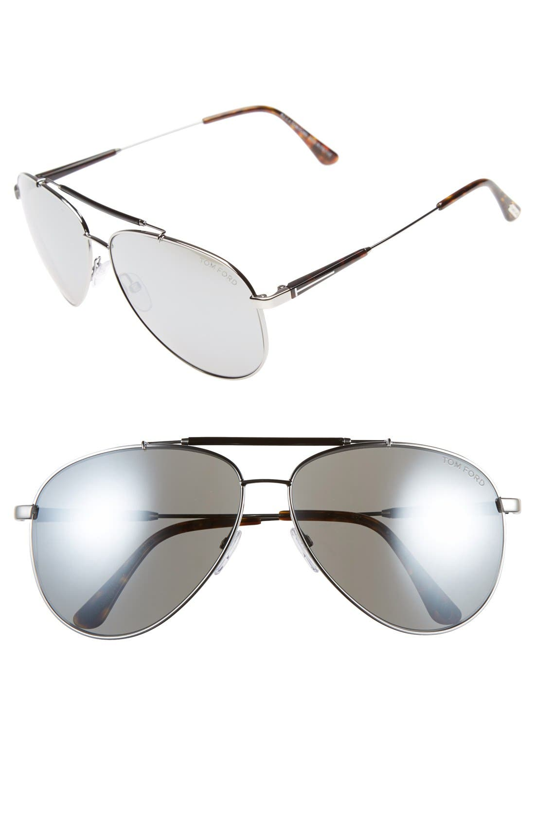 Rick 62mm Aviator Sunglasses,                             Main thumbnail 1, color,