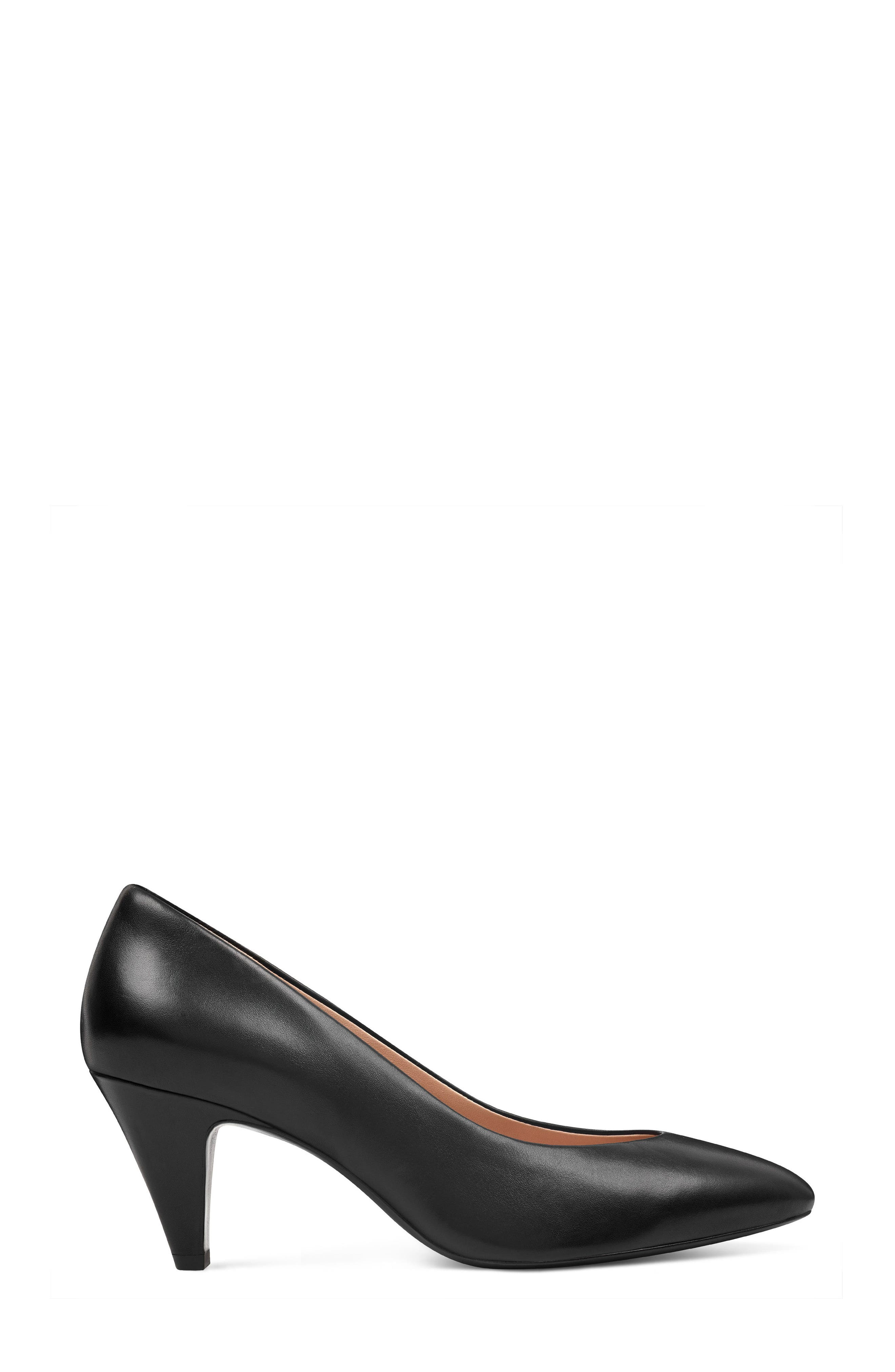 Faith - 40th Anniversary Capsule Collection Pump,                             Alternate thumbnail 3, color,                             BLACK LEATHER