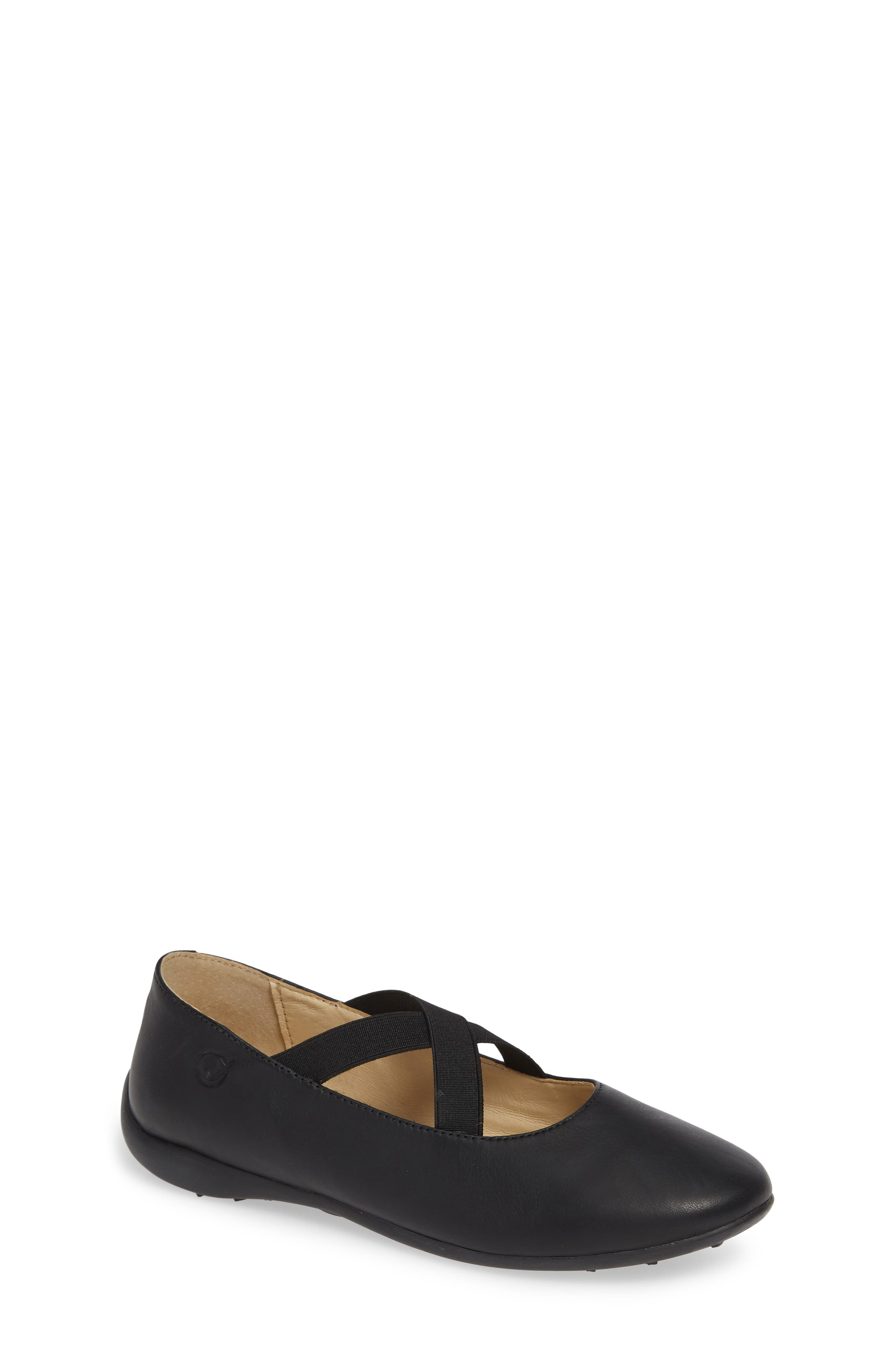 Matera Ballet Flat,                         Main,                         color, BLACK LEATHER
